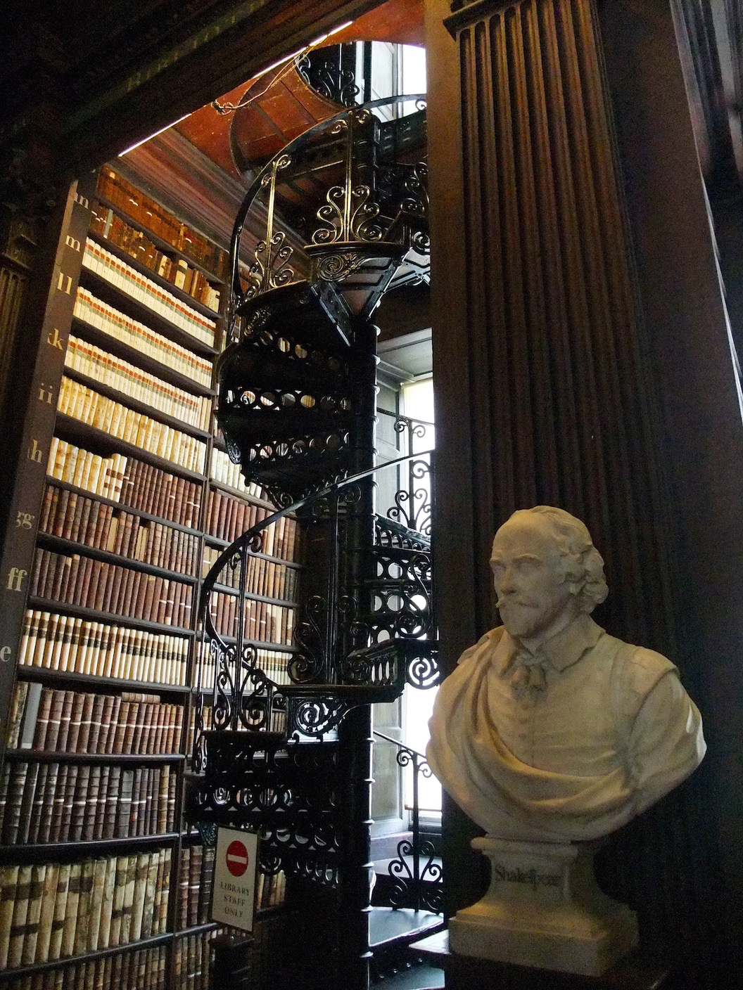 Bust of Shakespeare in the Trinity library