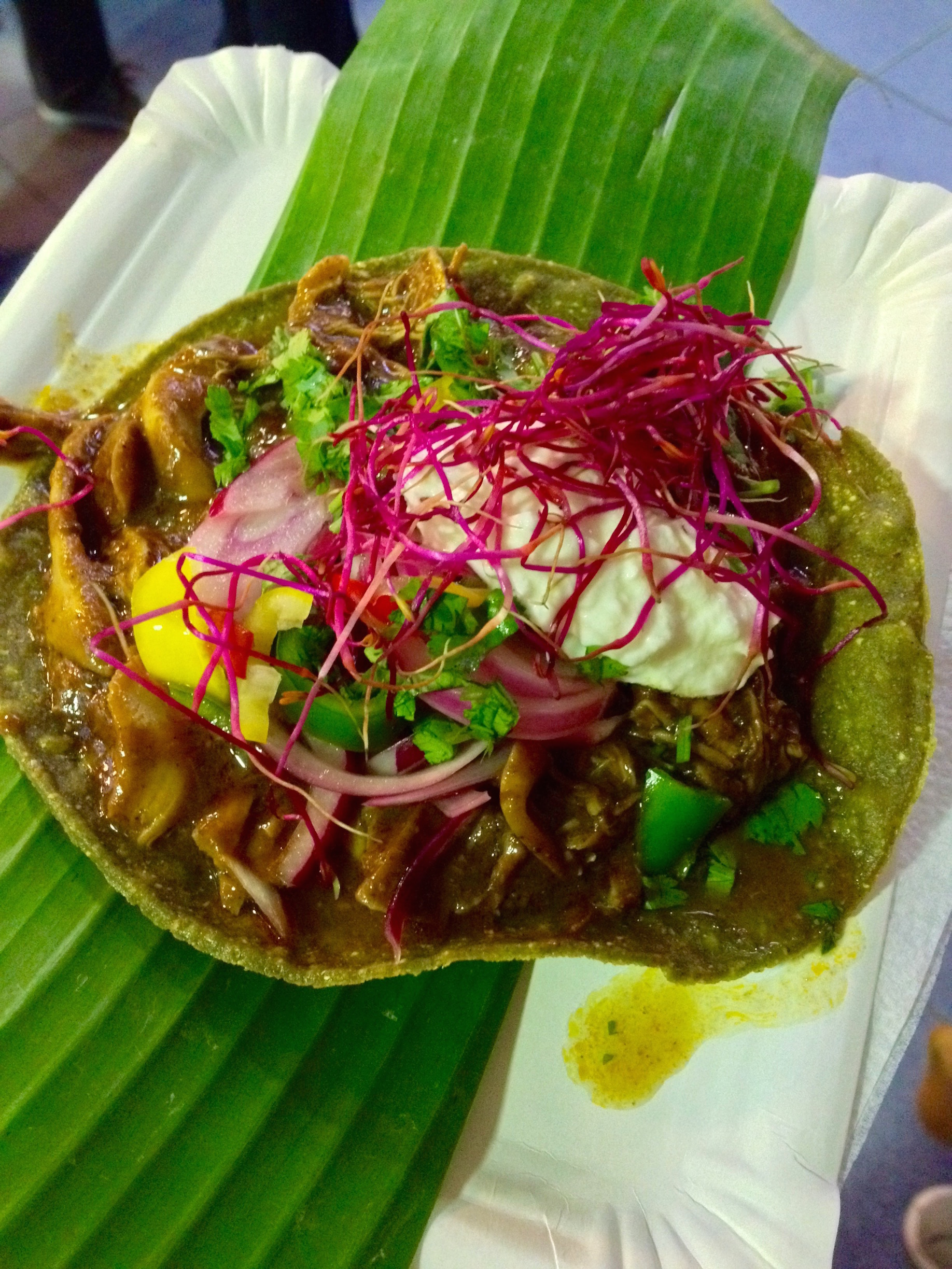 Chicken Mole Tostada