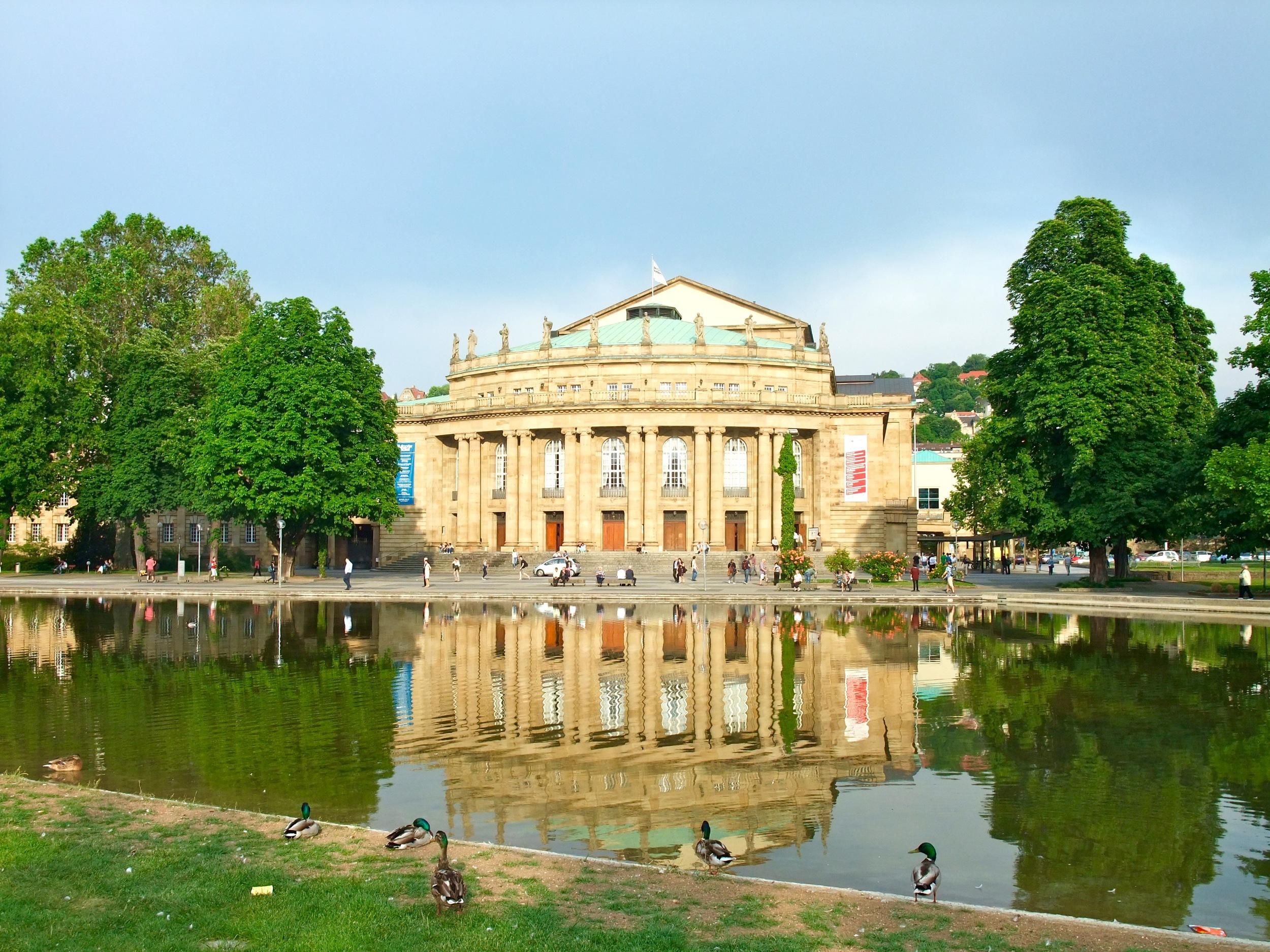 The opera house in the Schlossgarten
