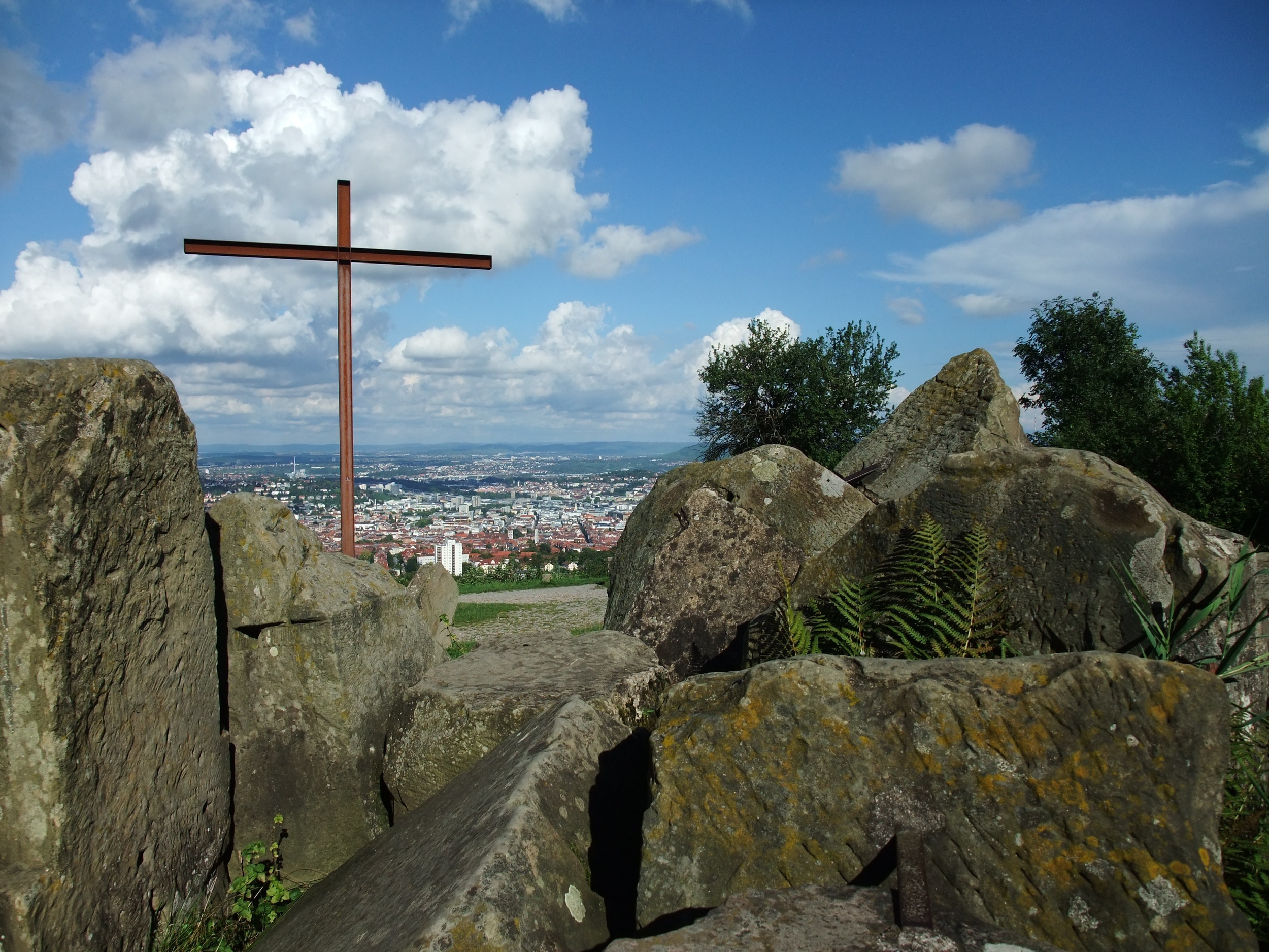 At the top of the Birkenkopf