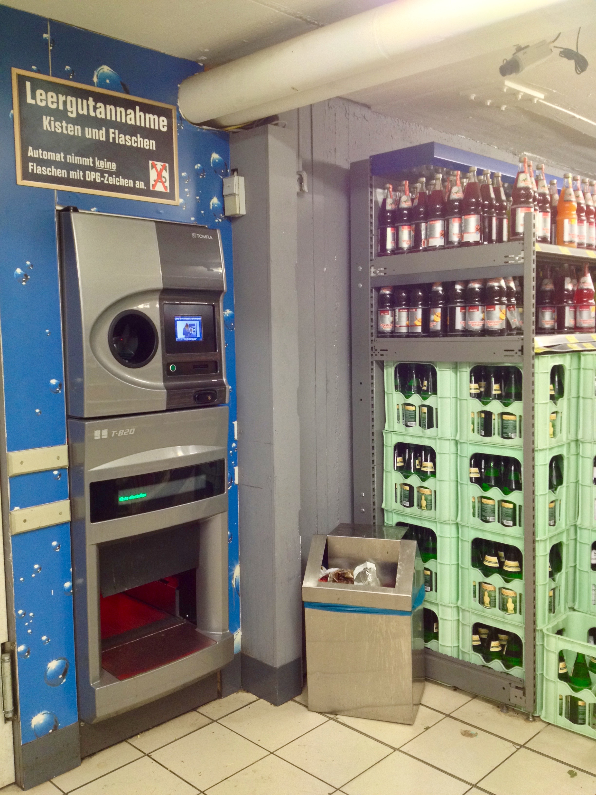 One of the bottle return machines