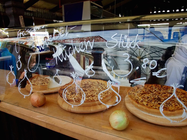 Zwiebelkuchn on display