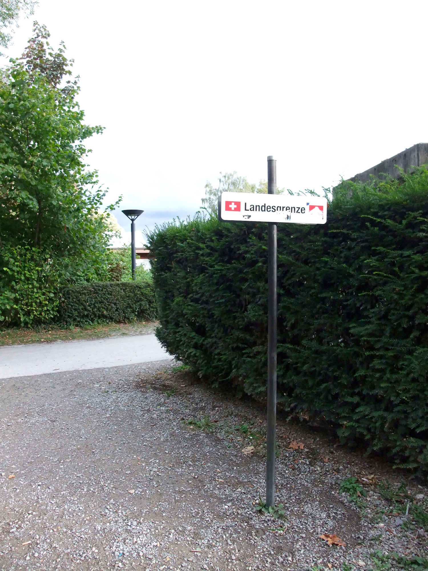 Crossing the border to Switzerland