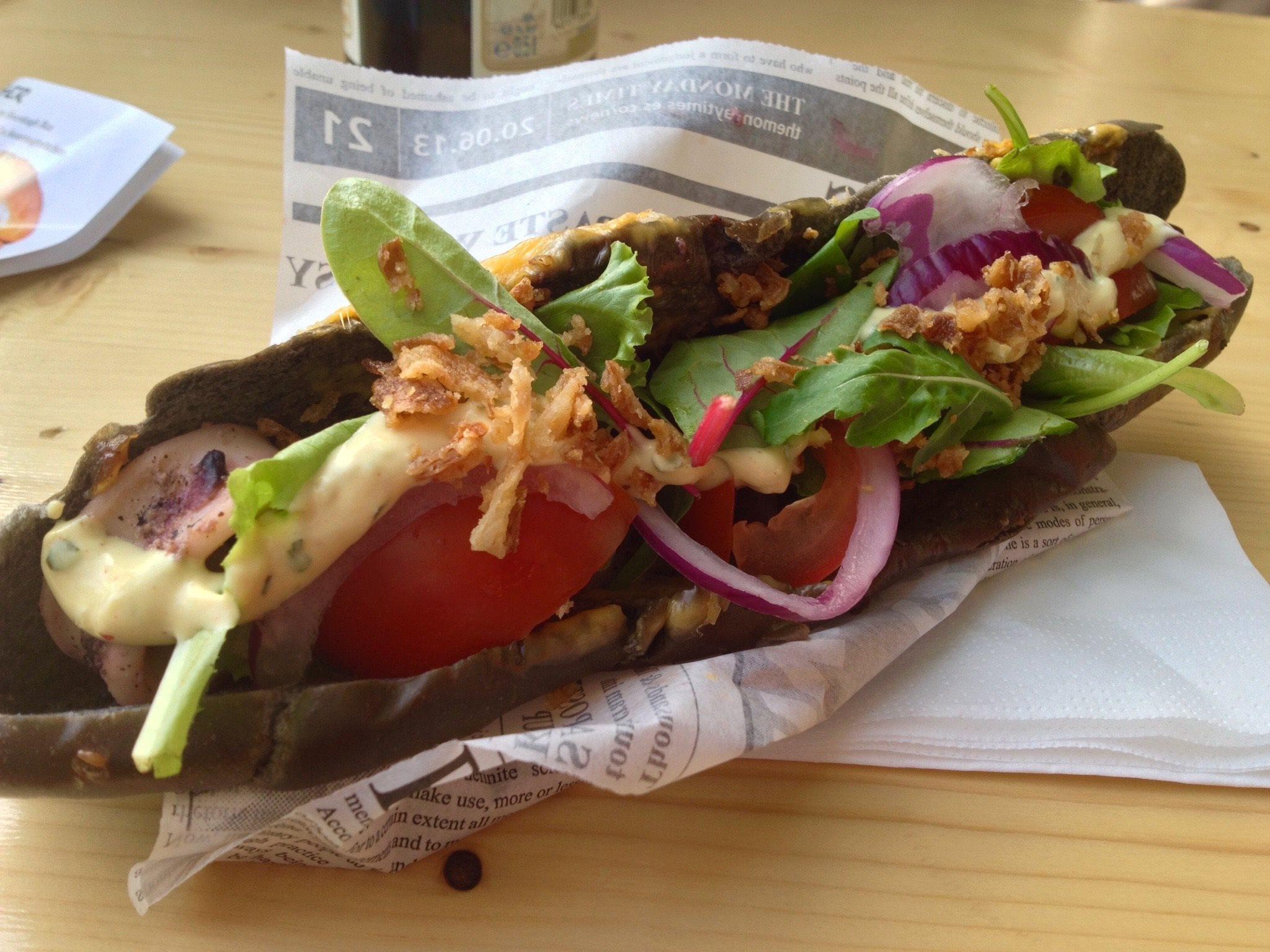 Black Calamari Sandwich from  Fisch Futter