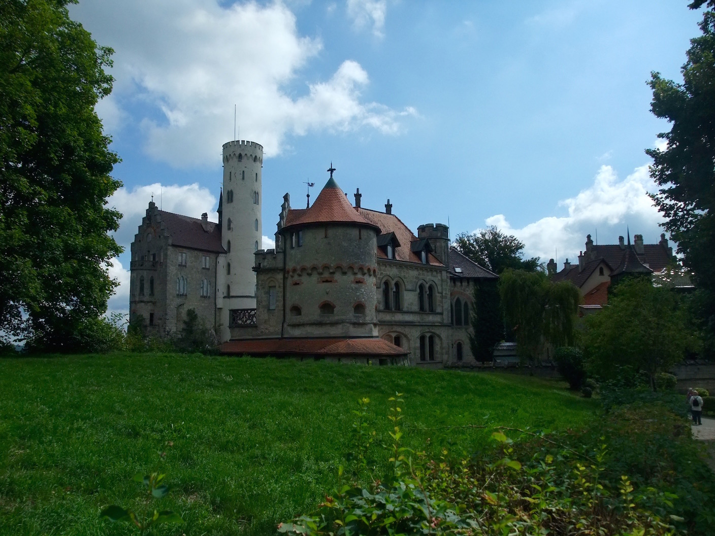 The outer buildings of the castle