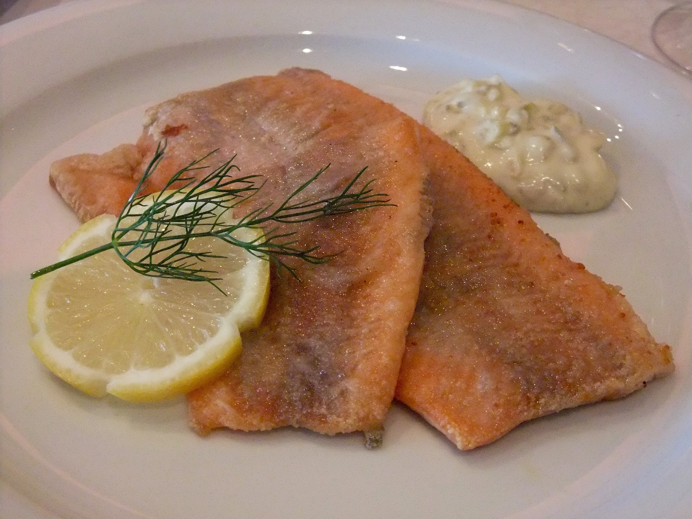 My pan-fried trout with a homemade remoulade