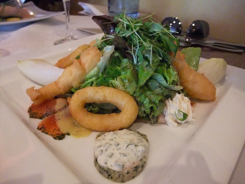 Mixed trout salad