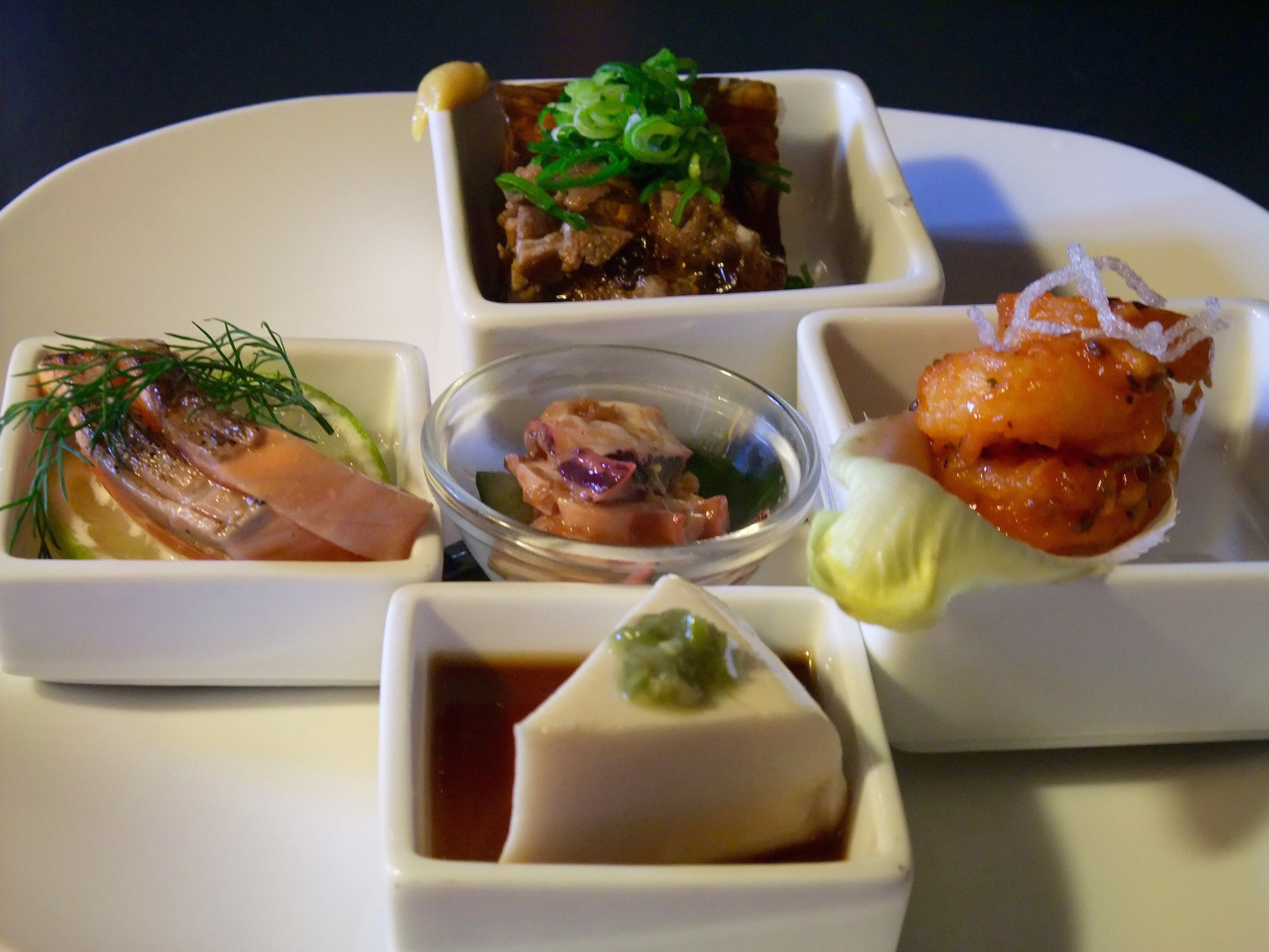 Mixed Japanese appetizer plate