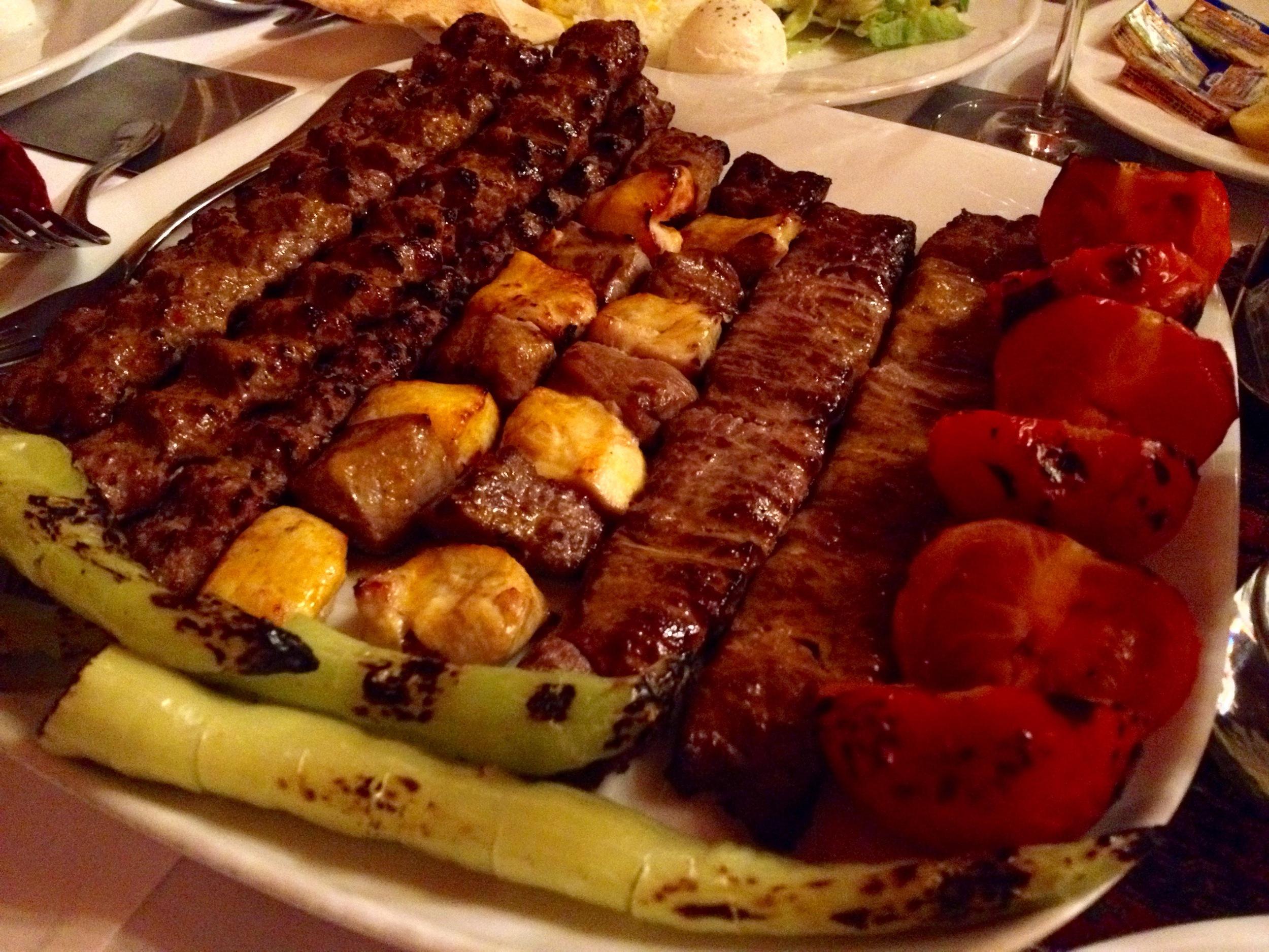 Assorted meat kebabs
