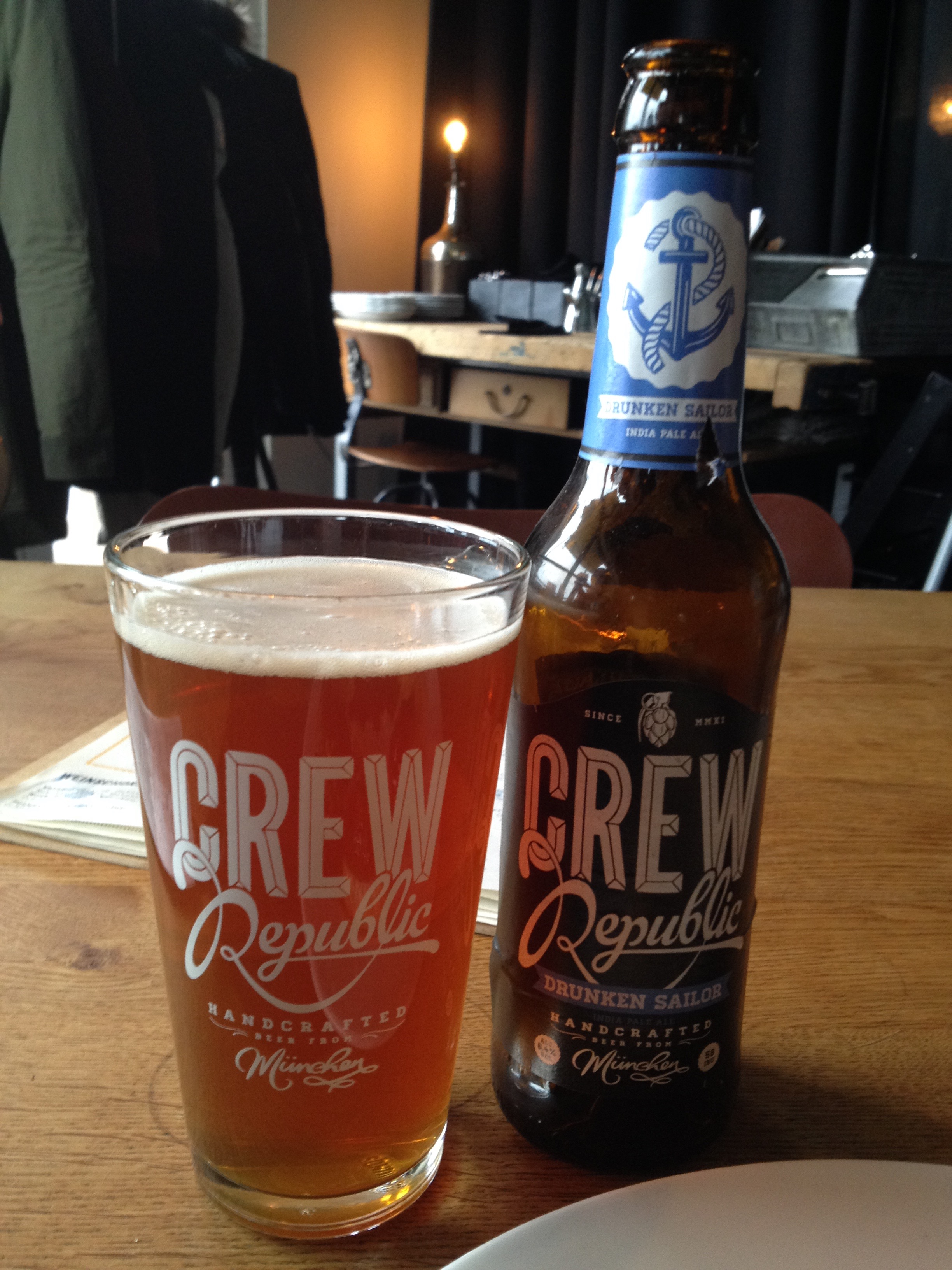 Crew Republic Drunken Sailer IPA (from Munich) on a previous trip to 87