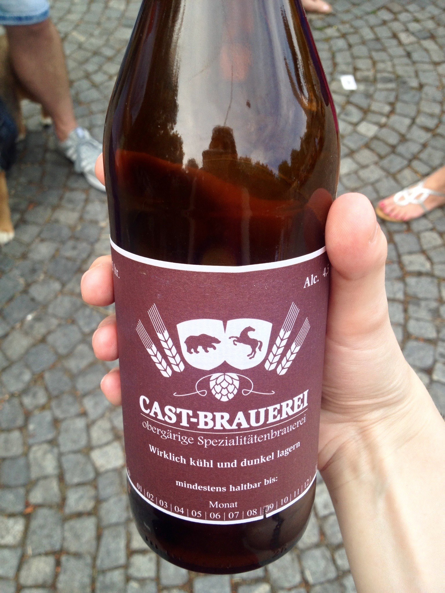 Bottled Pale Ale at the Thursday Street Food Market in the Karlsplatz