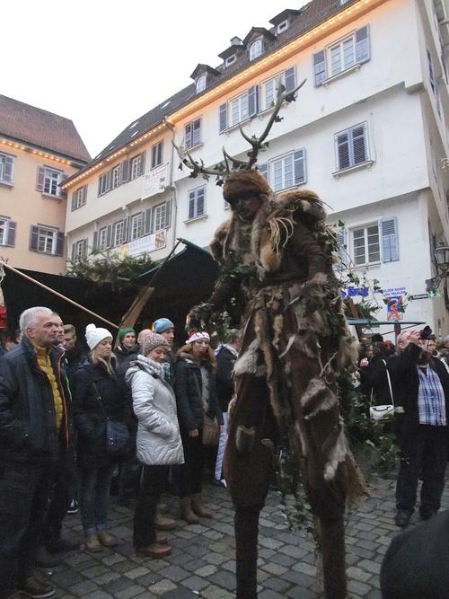 A forest spirit on parade at the Esslingen Mittelaltermarkt