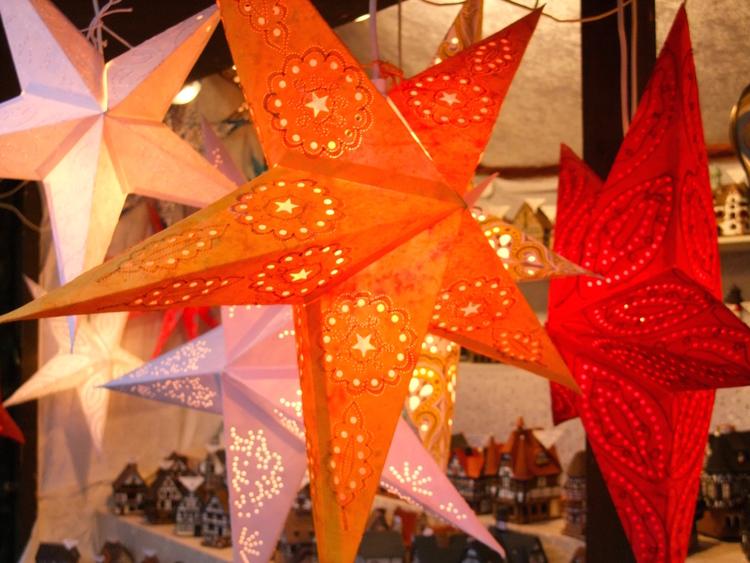 Christmas lanterns on sale at the Stuttgarter Weihnachtsmarkt