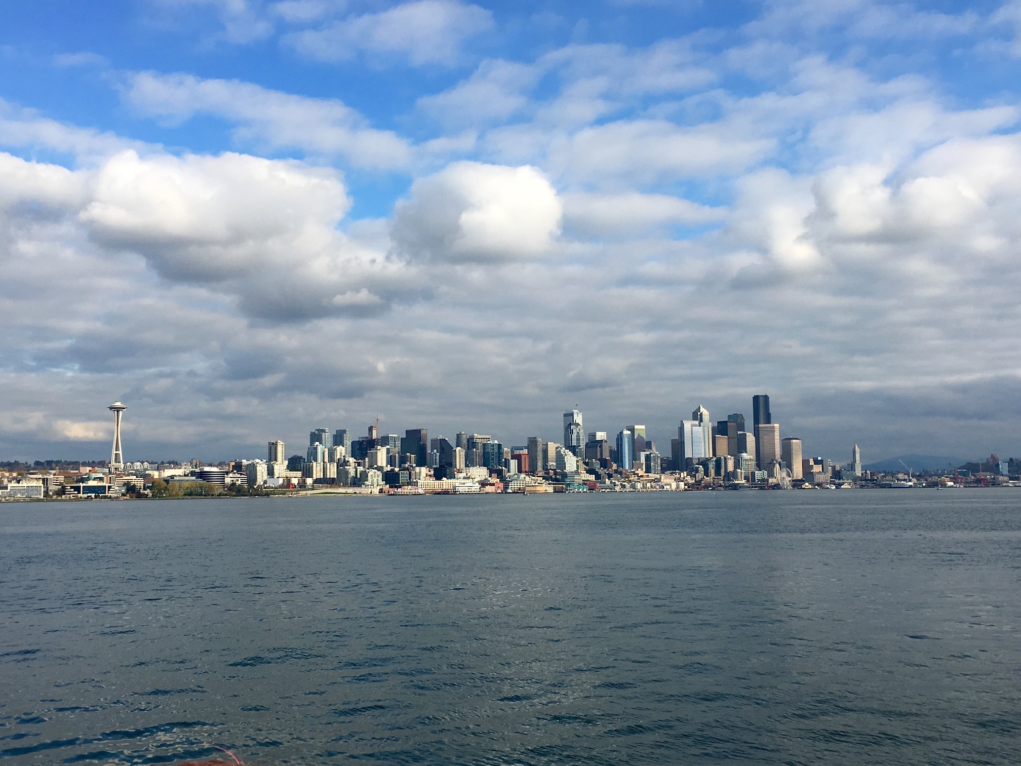 Seattle's skyline from Elliot Bay