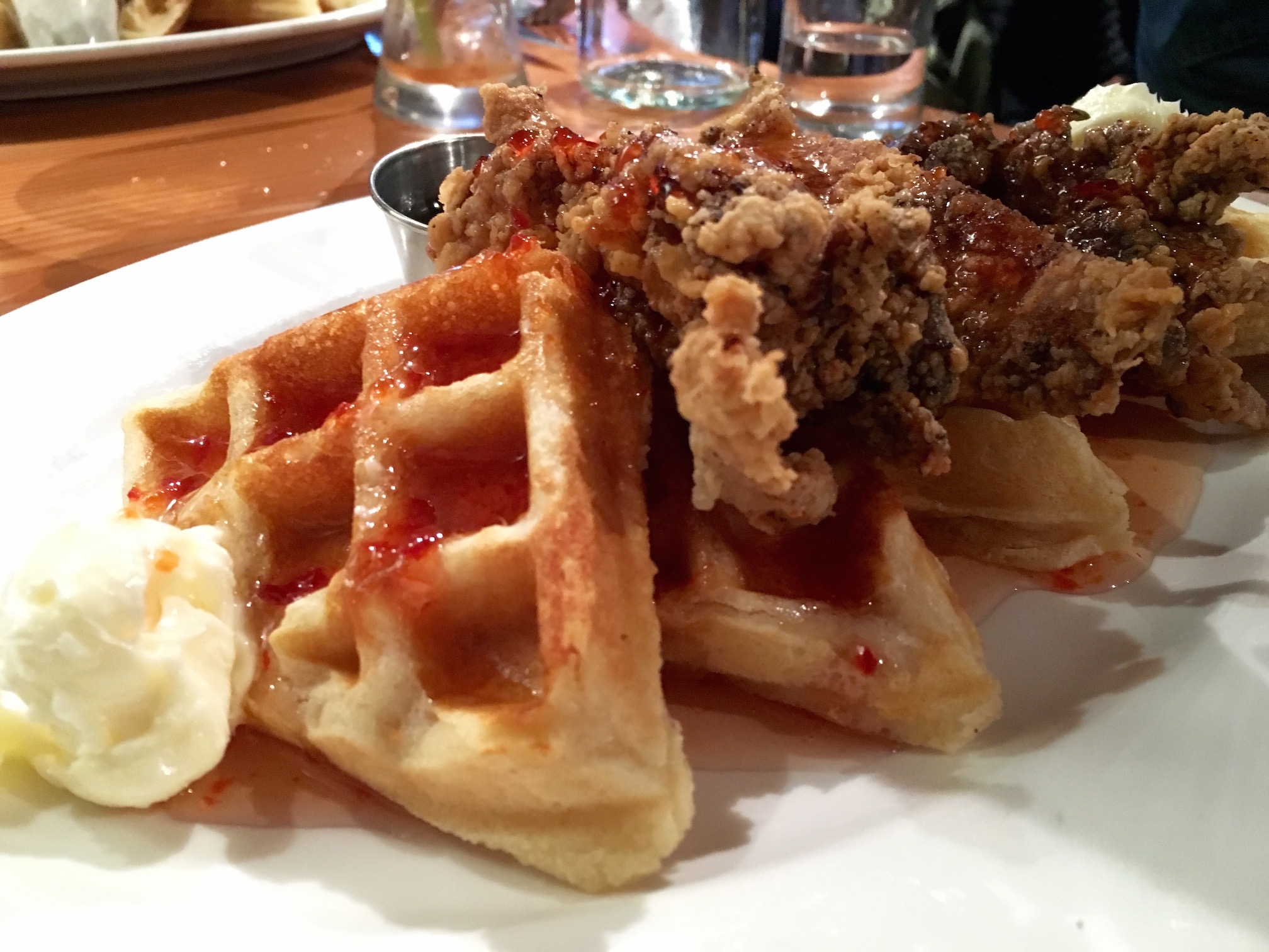 Fried Chicken and Waffles at Local 360