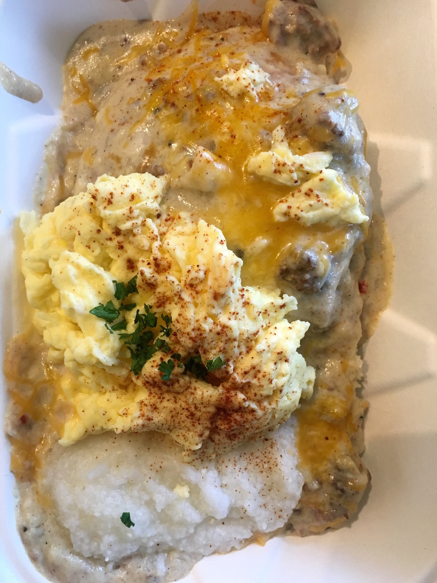 Gritty Scrambled Cheesy Bitch at Biscuit Bitch