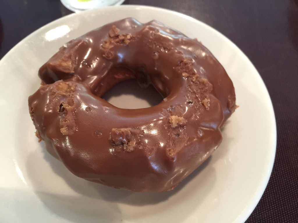 Salted caramel old-fashioned doughnut at Top Pot