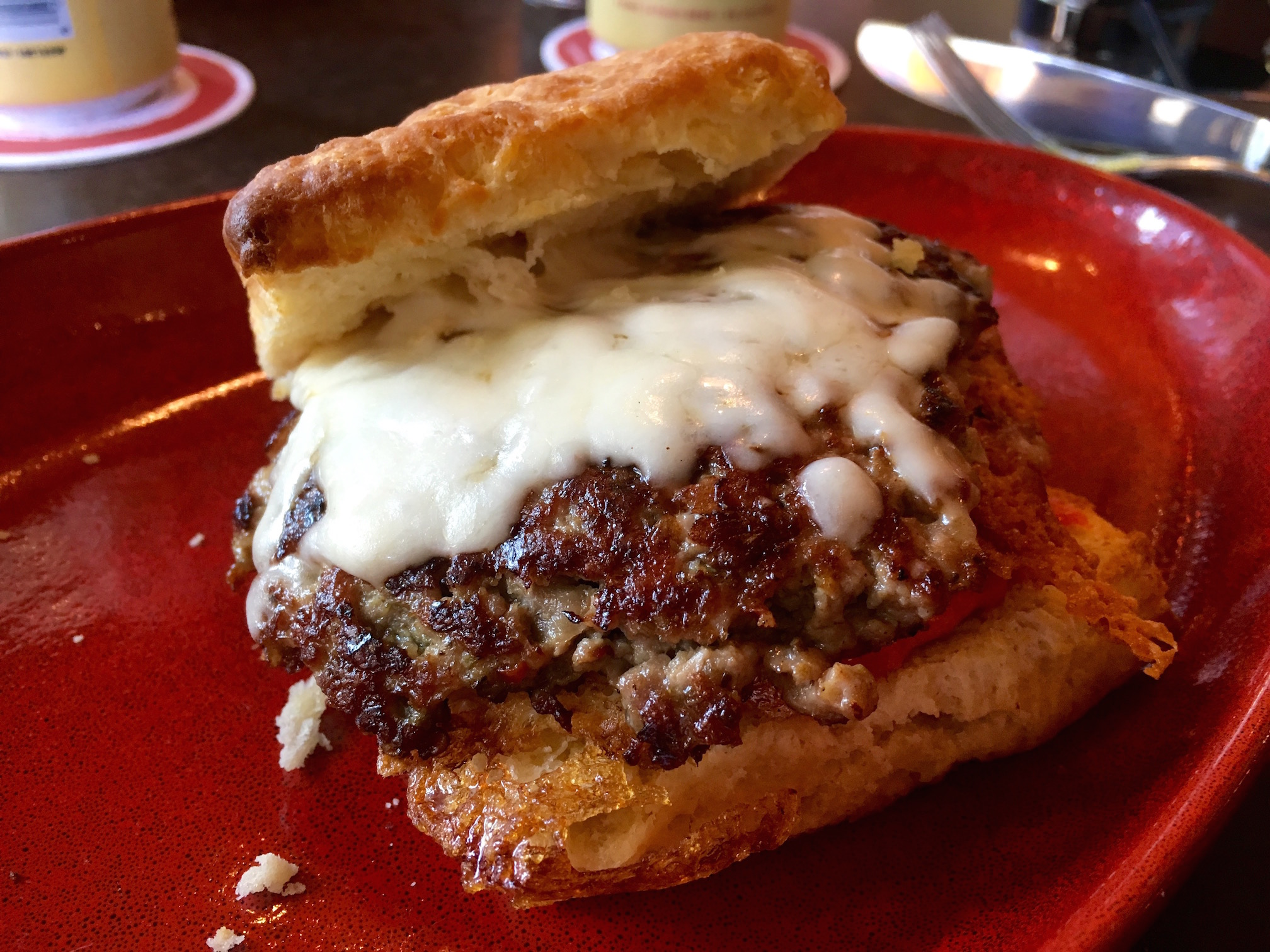Fennel sausage biscuit at Serious Pie & Biscuit