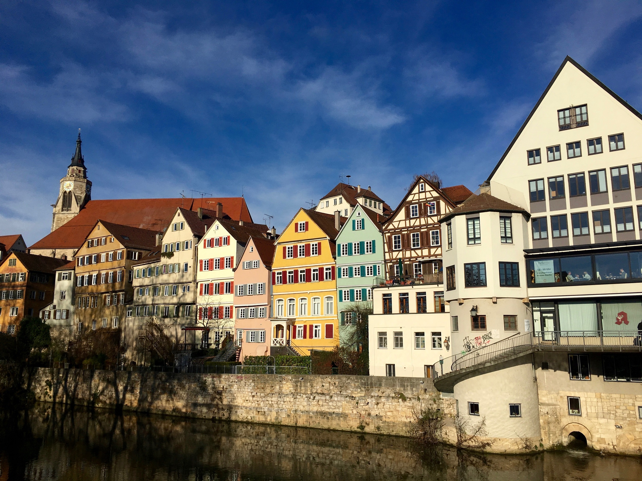 A popular shot of the colorful houses along the Neckar
