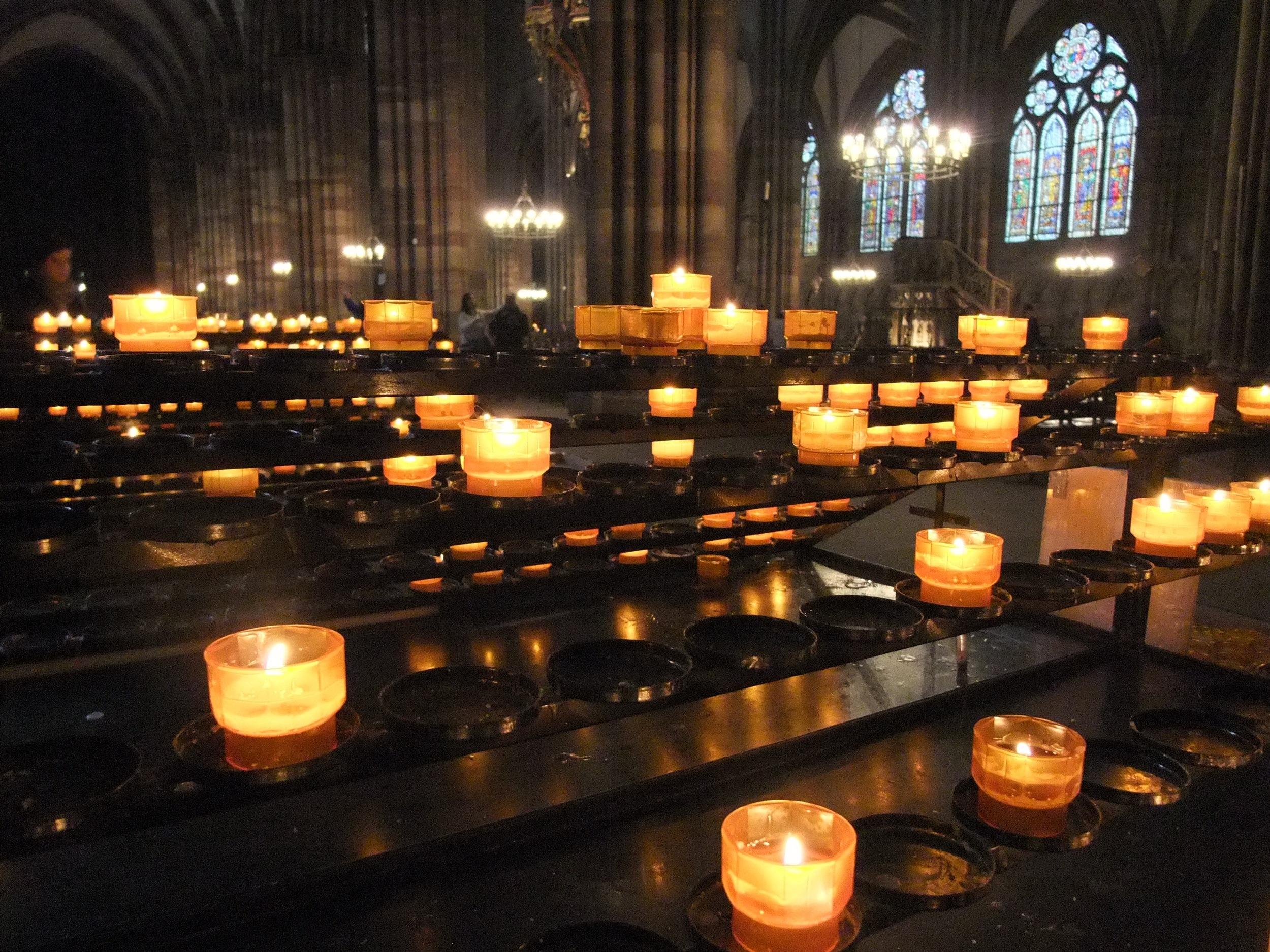 Inside the  Cathédrale Notre-Dame de Strasbourg