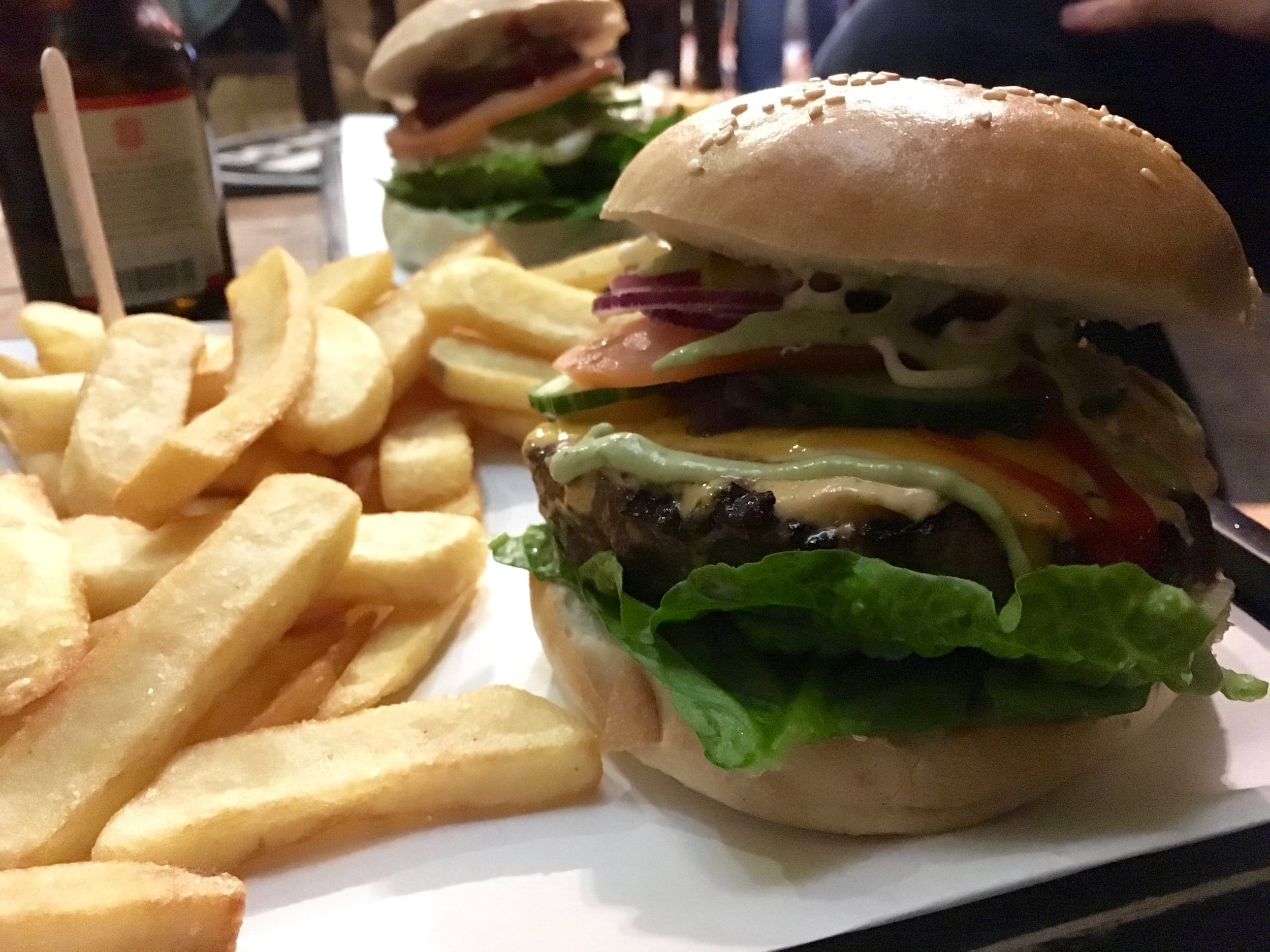 The Triple B Burger with fries