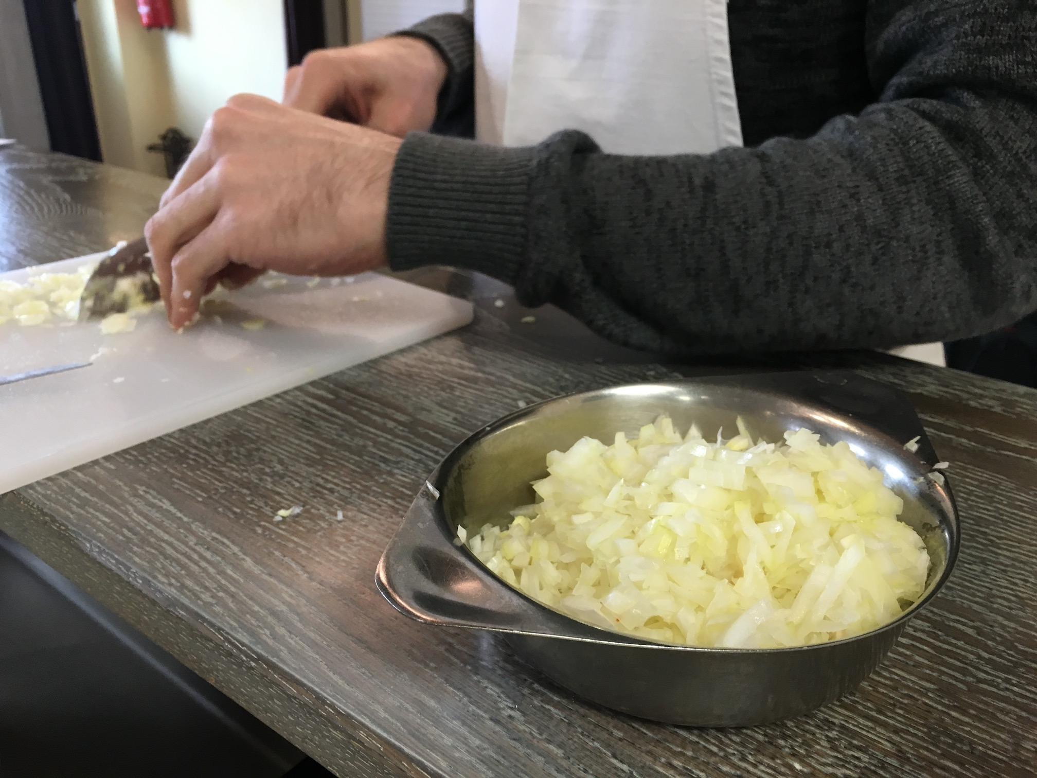 Prepping onions