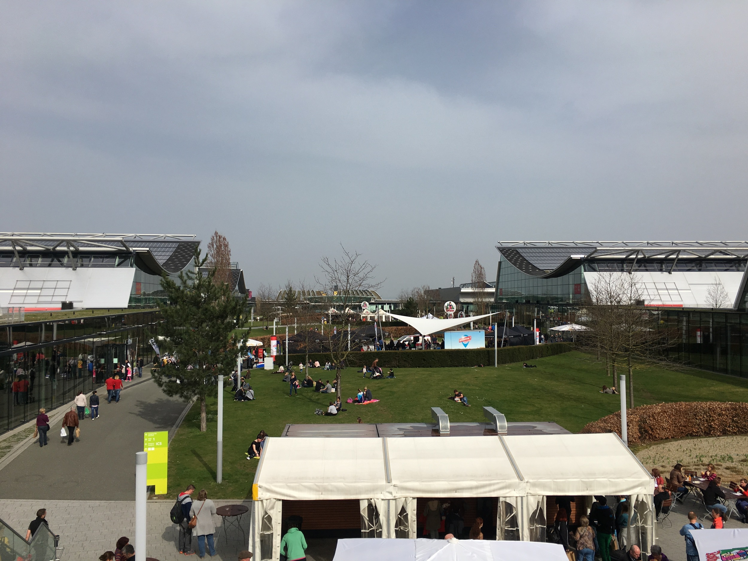 On the grounds of the  Messe