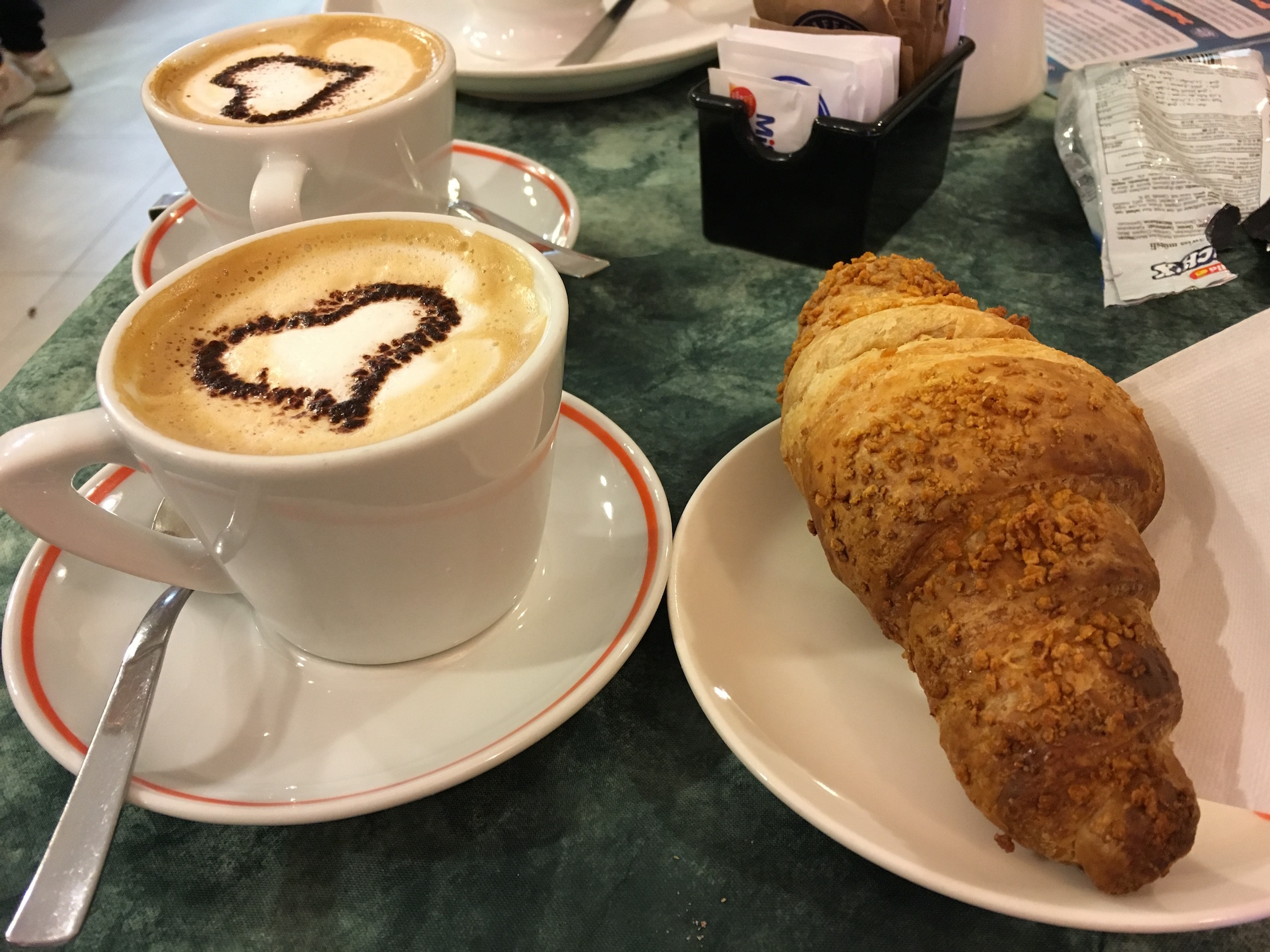 Breakfast at  Caffe Matteo