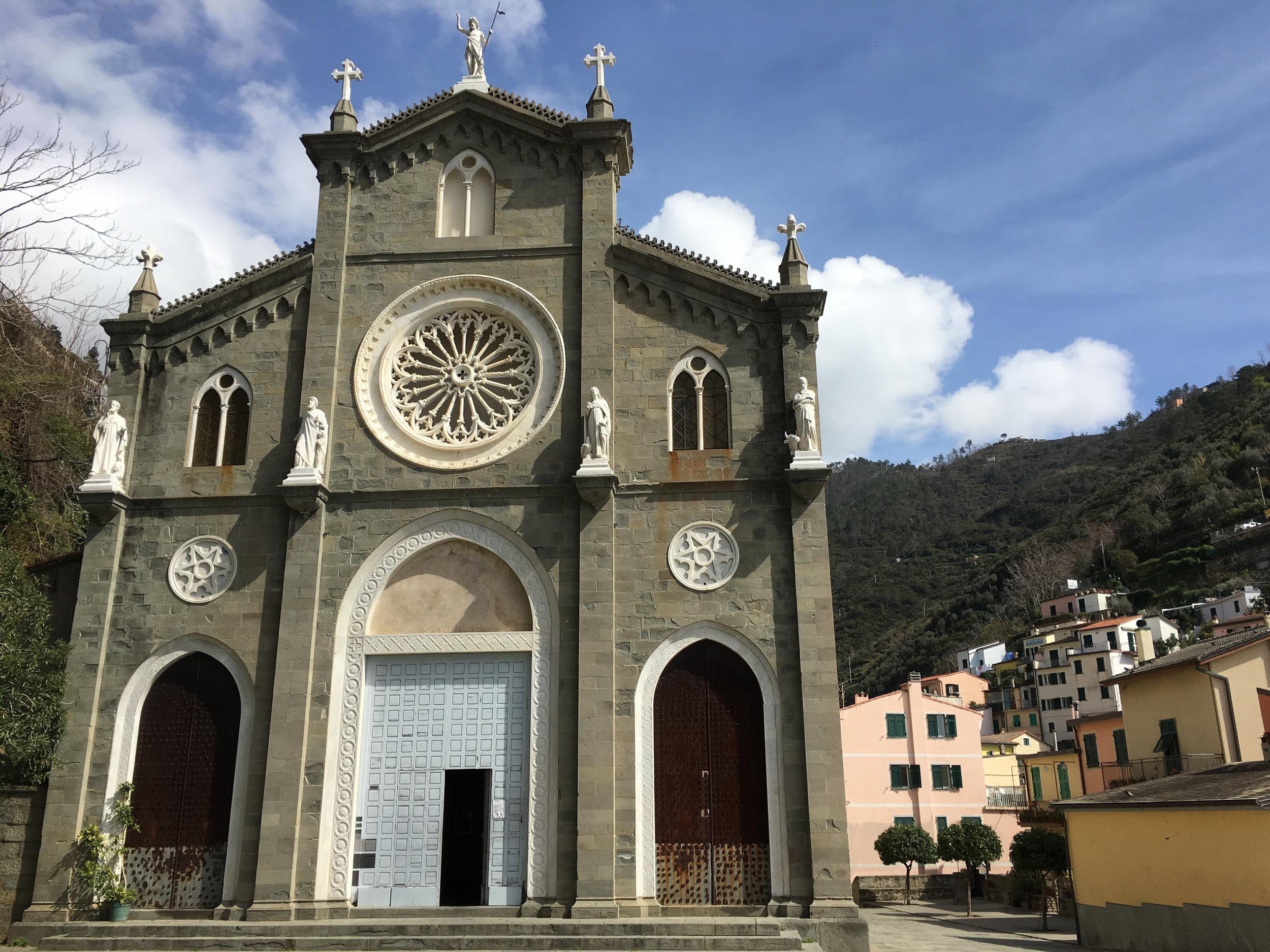 The church in Riomaggiore