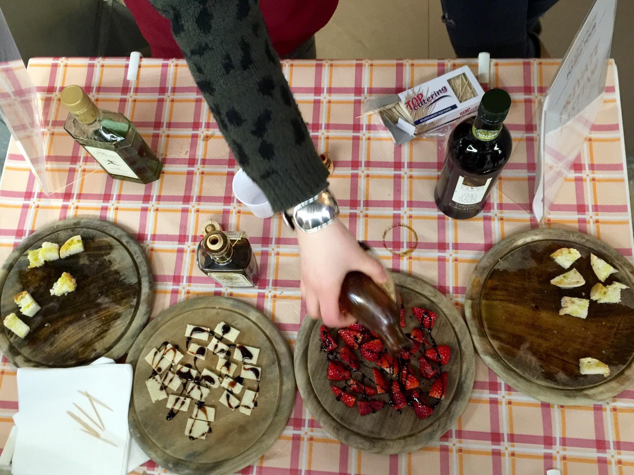 Olive oil and balsamic vinegar tasting