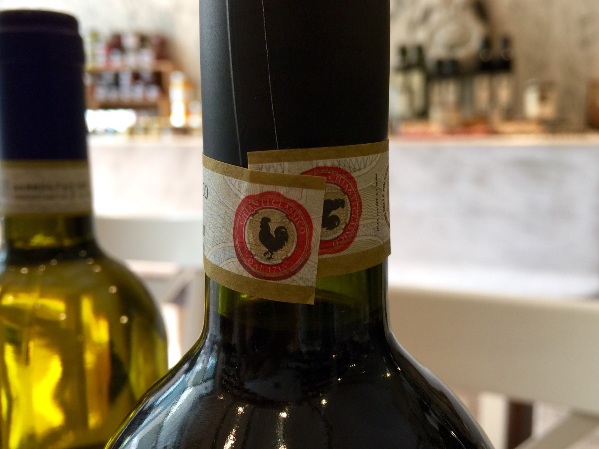 The sign of a good  chianti