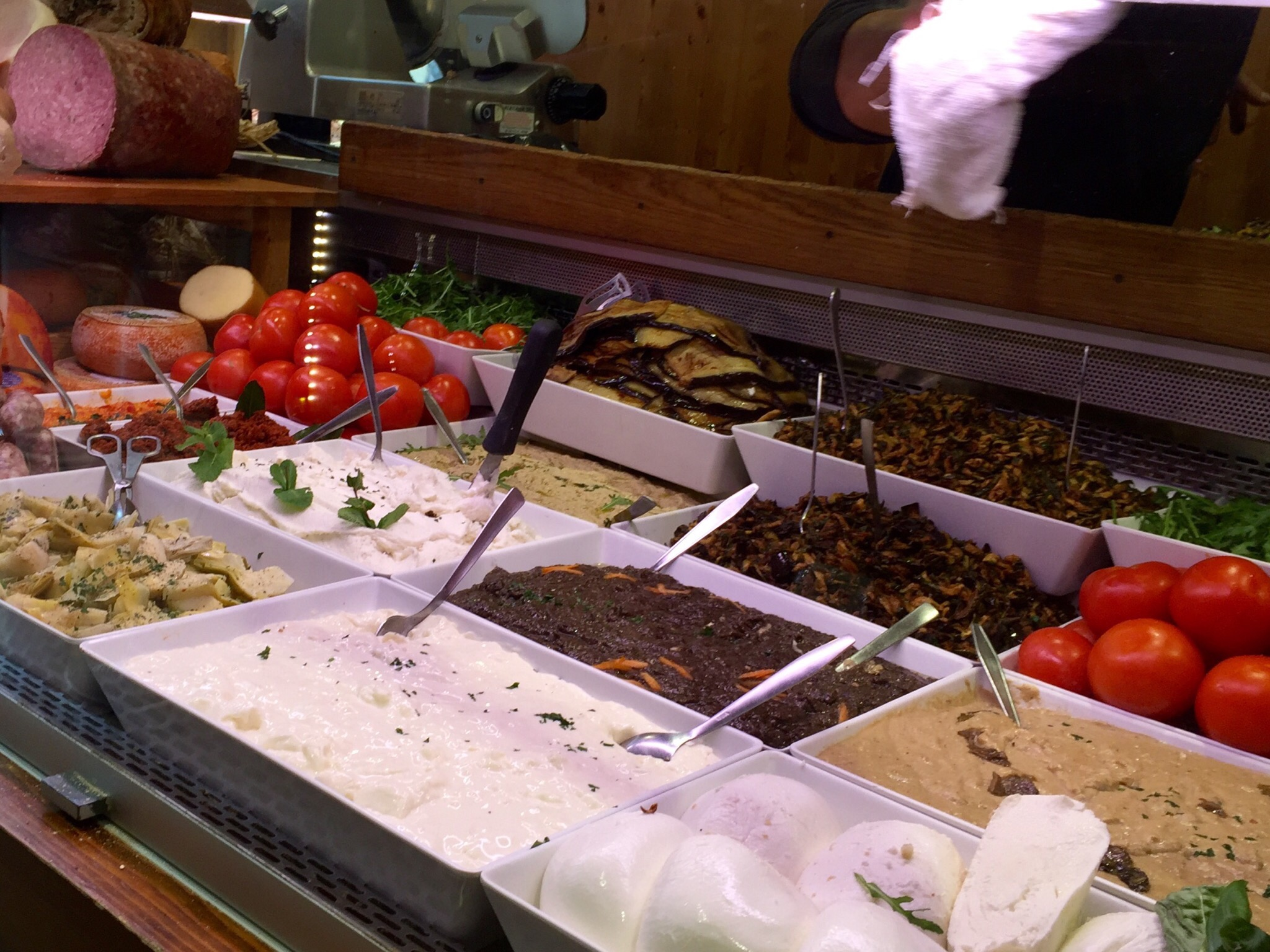 Ingredients at  All'Antico Vinaio