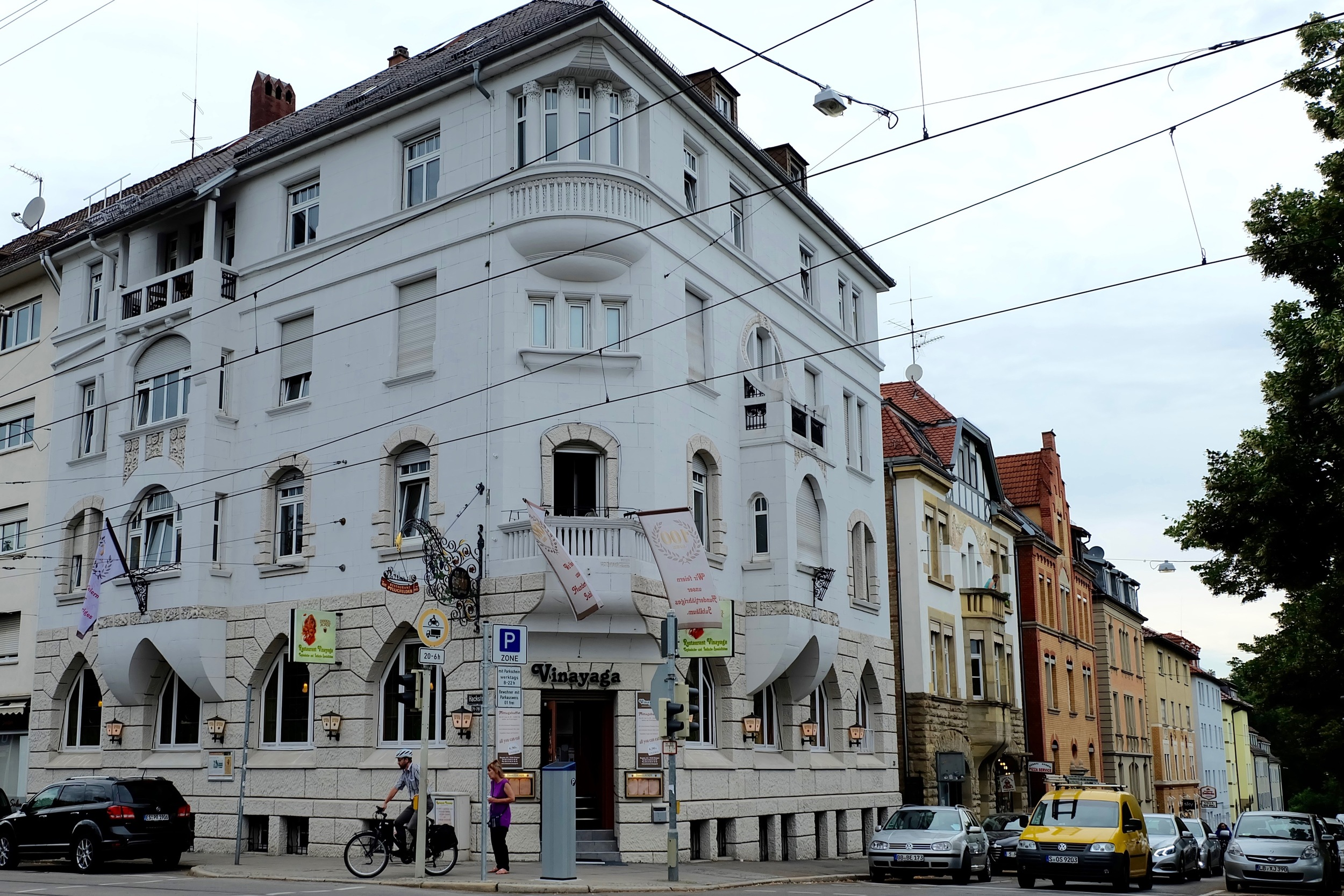 Restaurant Vinayaga's corner location in Stuttgart-West
