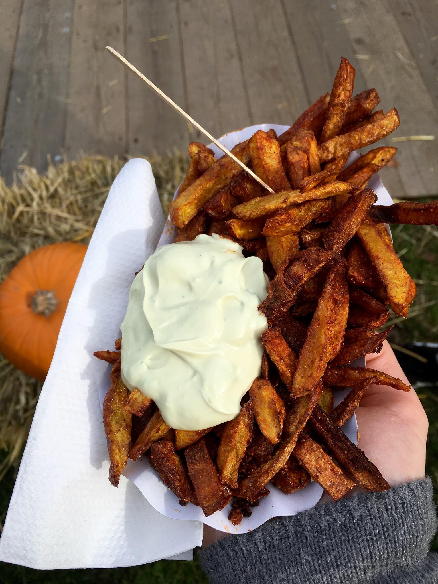Pumpkin fries at the Ludwigsburg Pumpkin Festival