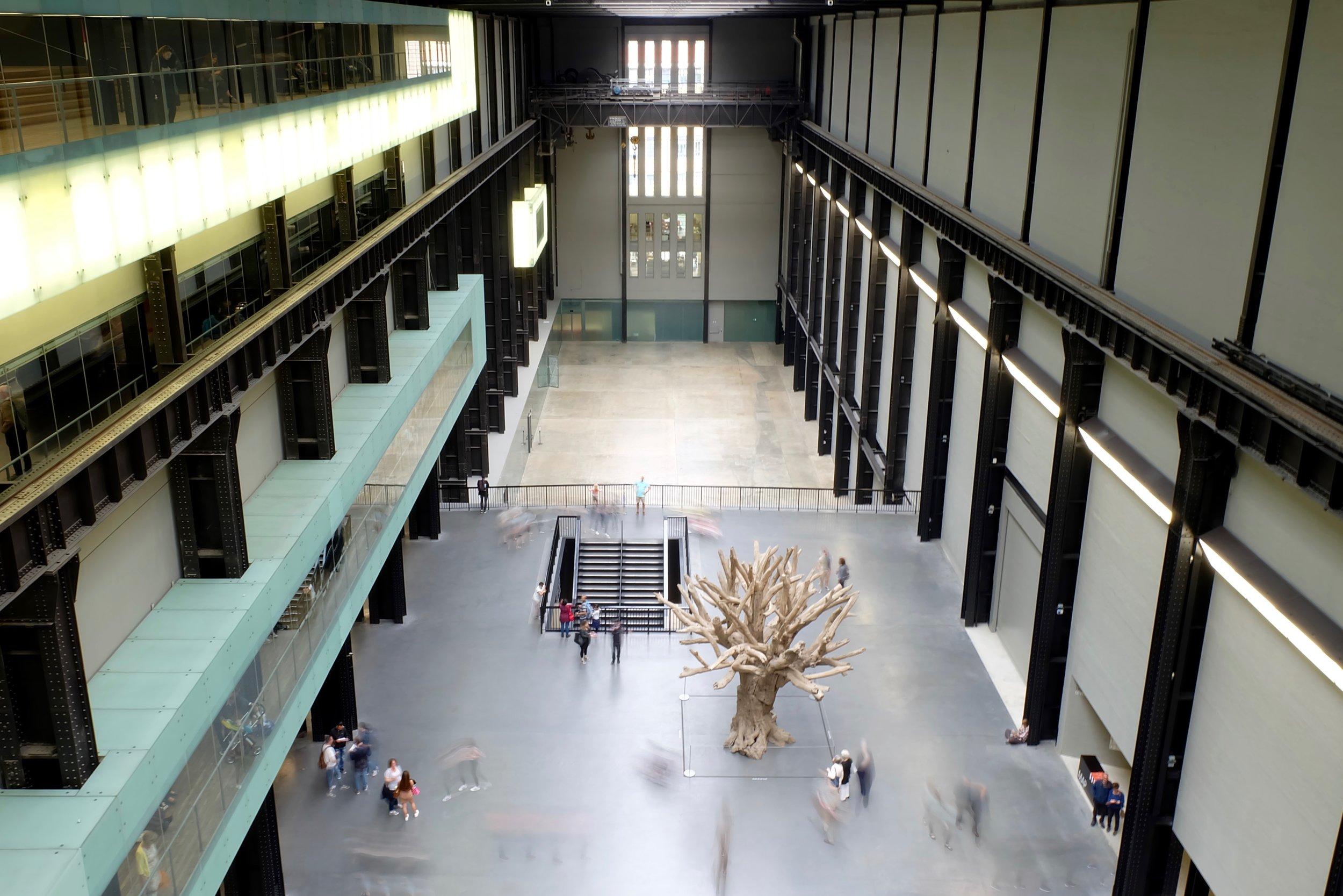 An Ai Weiwei exhibit inside the Tate Modern