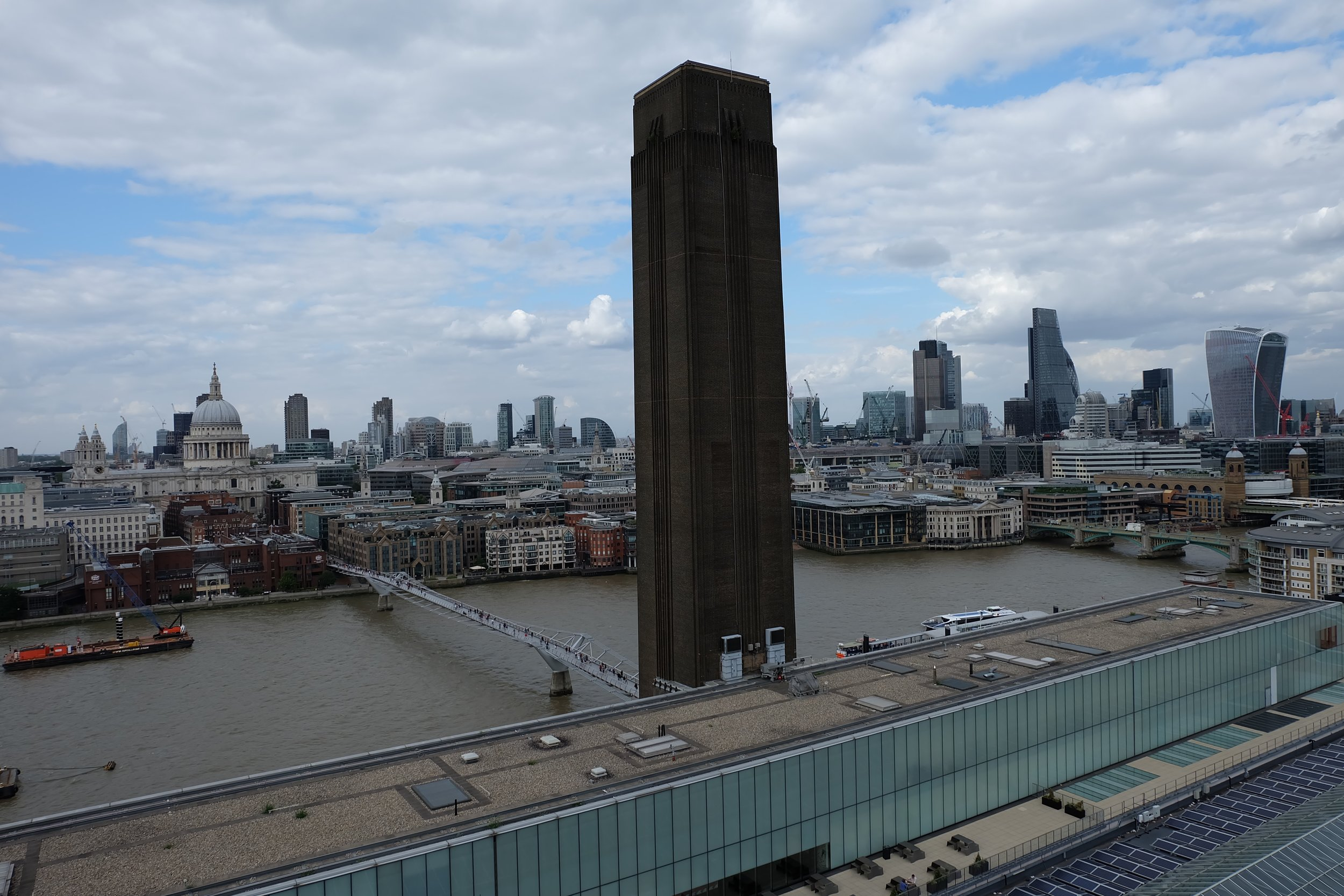 The view from the café at the top of the Tate