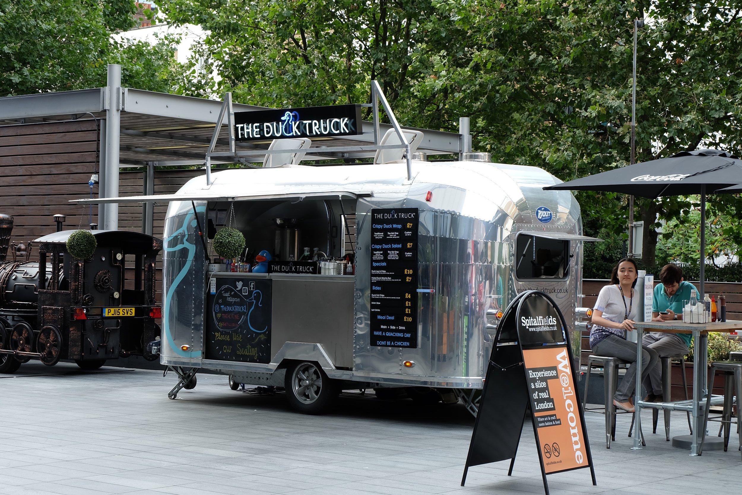 The Duck Truck at Spitalfields Market