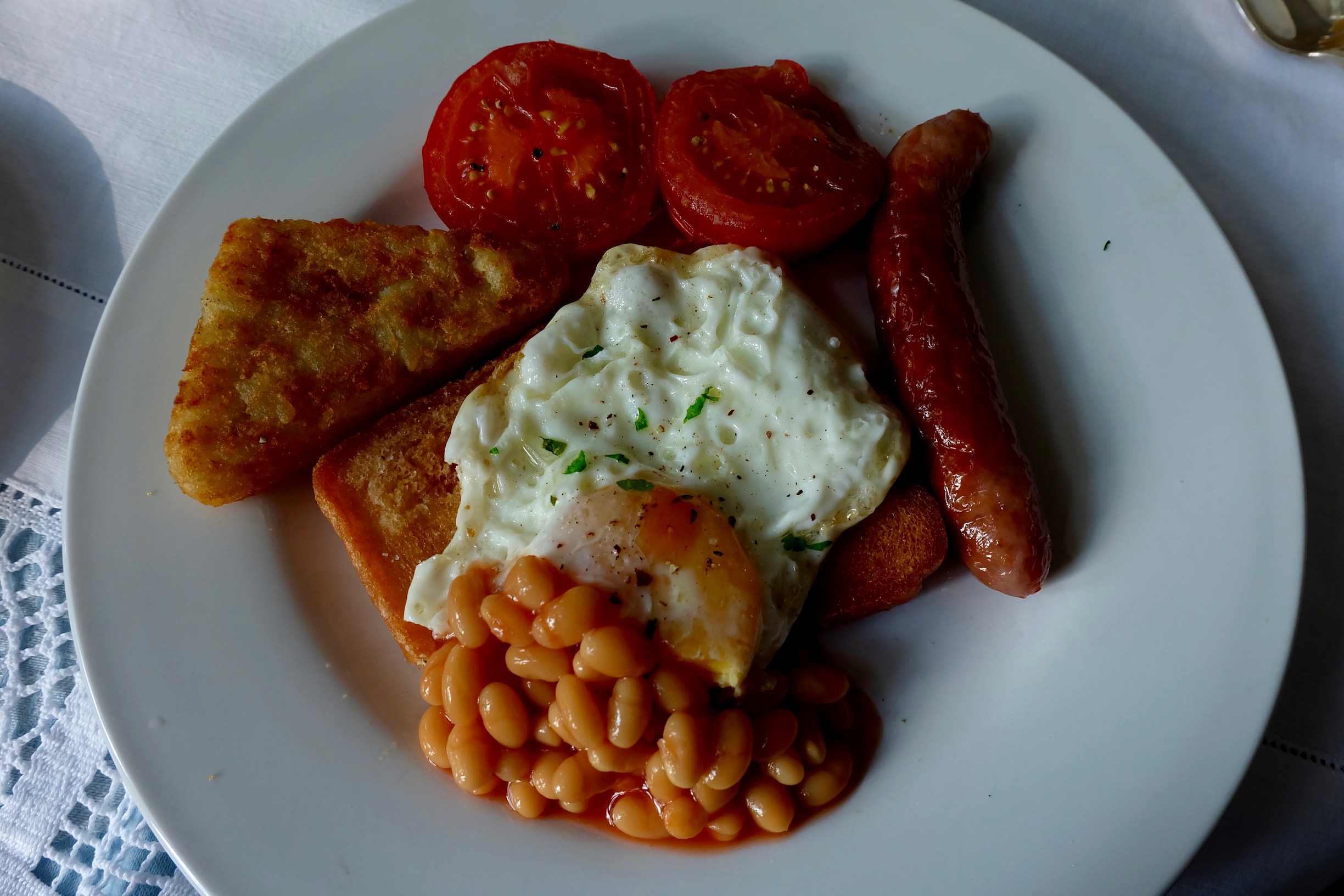 A full English breakfast at the Adelphi