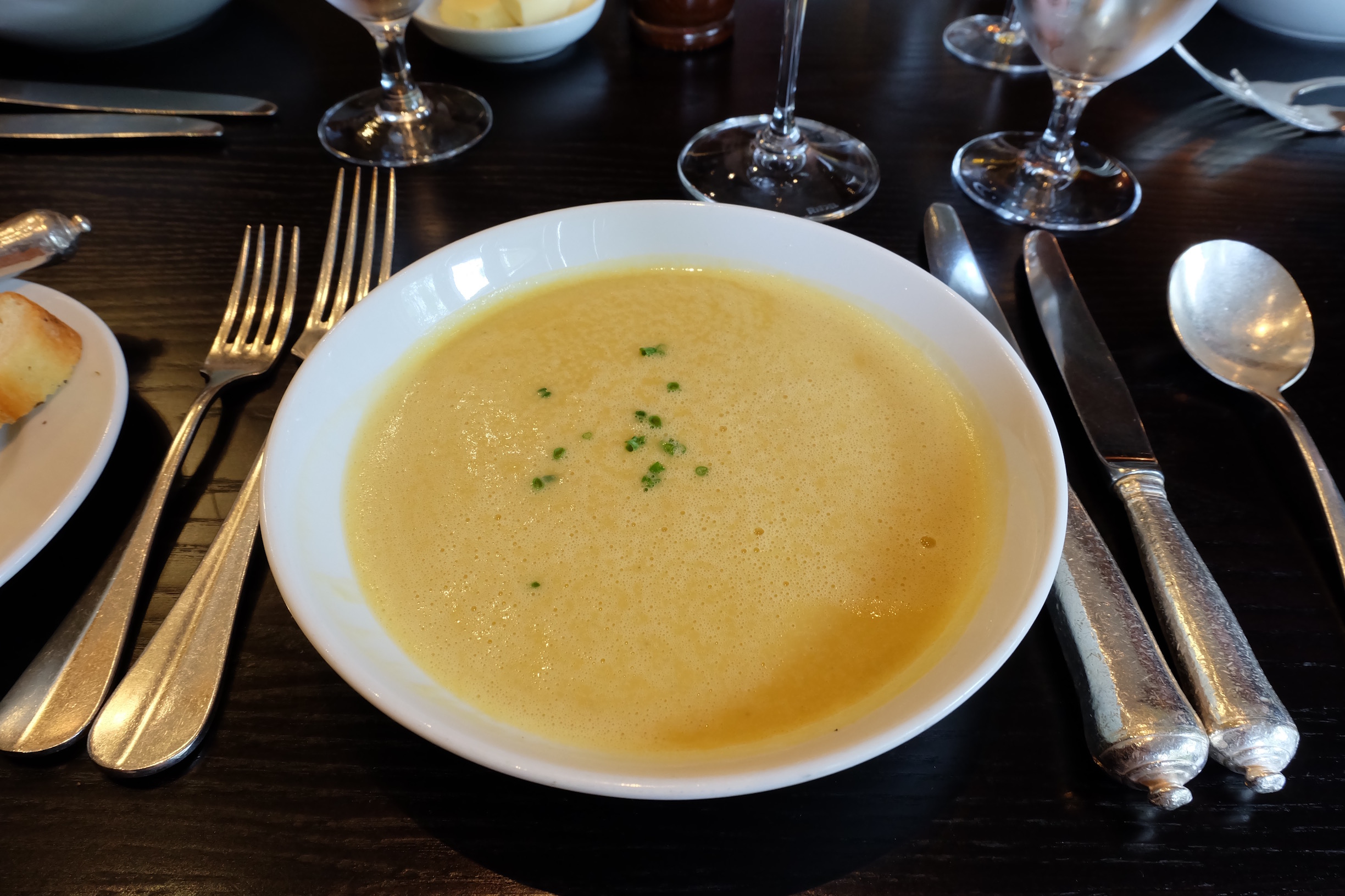 Course 1: Lentil Soup at Hotel du Vin in Glasgow