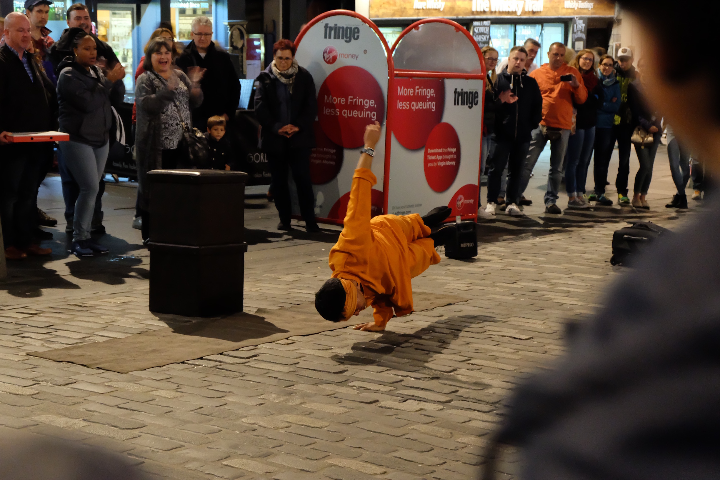 Street performer in Edinburgh