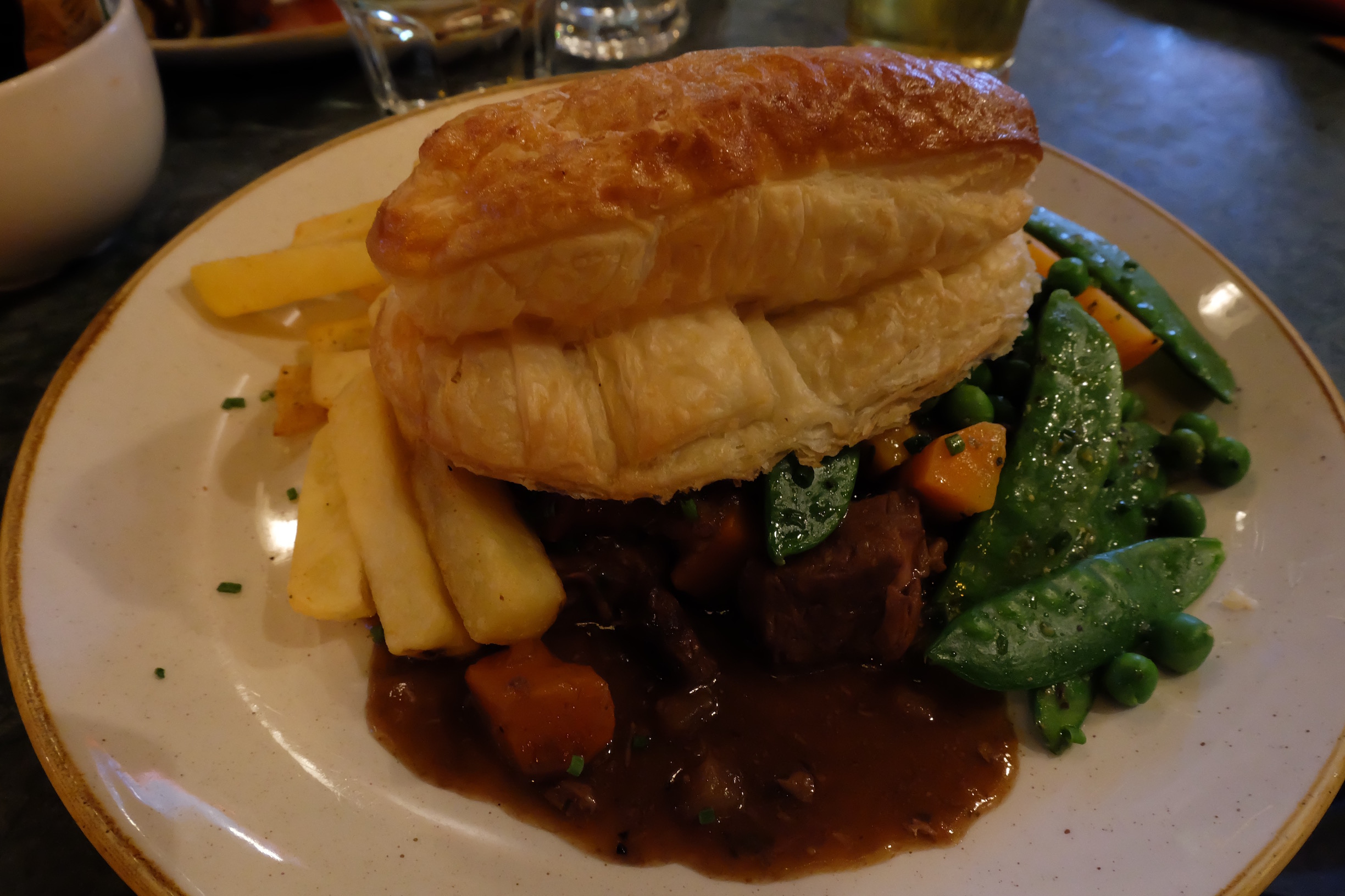 Steak and Ale Pie  at Whiski in Edinburgh