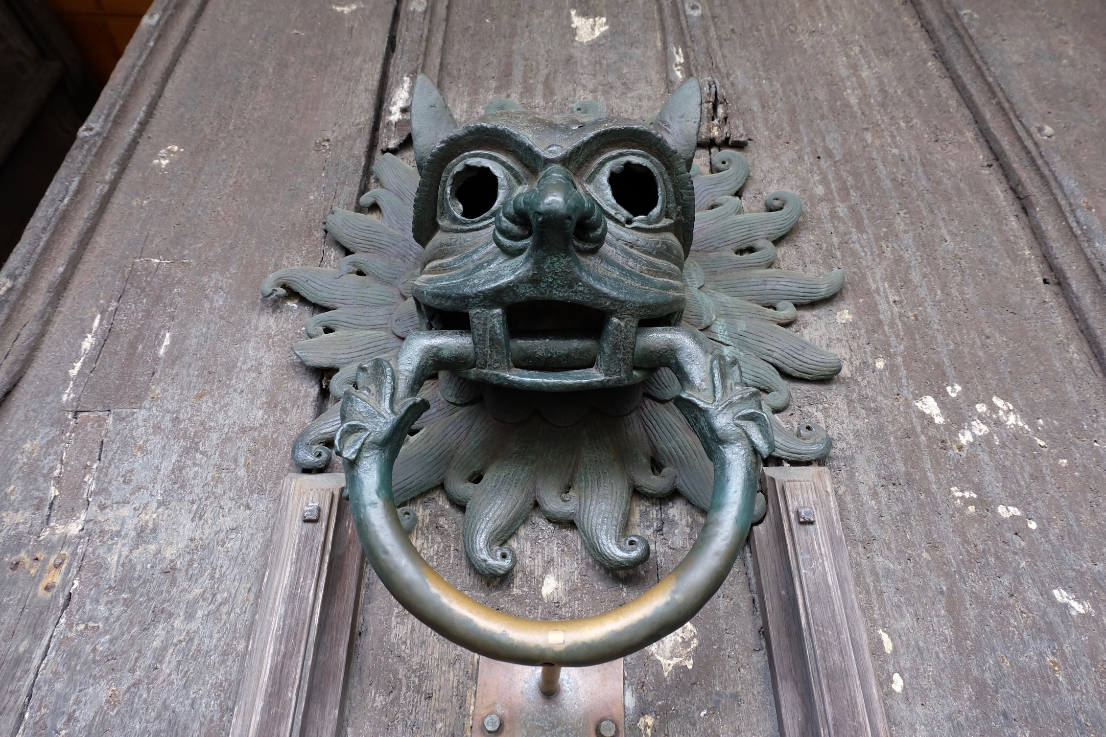 The sanctuary door knocker at Durham Cathedral