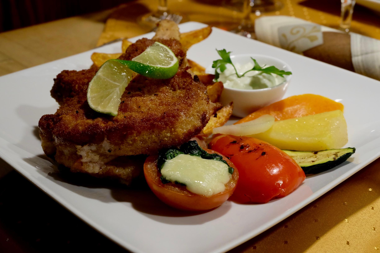 Pork  Cordon bleu  at  Restaurant zum Weingockel