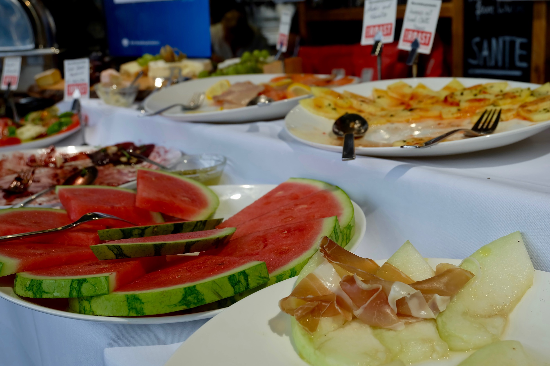 The brunch buffet  at   Blank Roast Kaffeemanufakturer