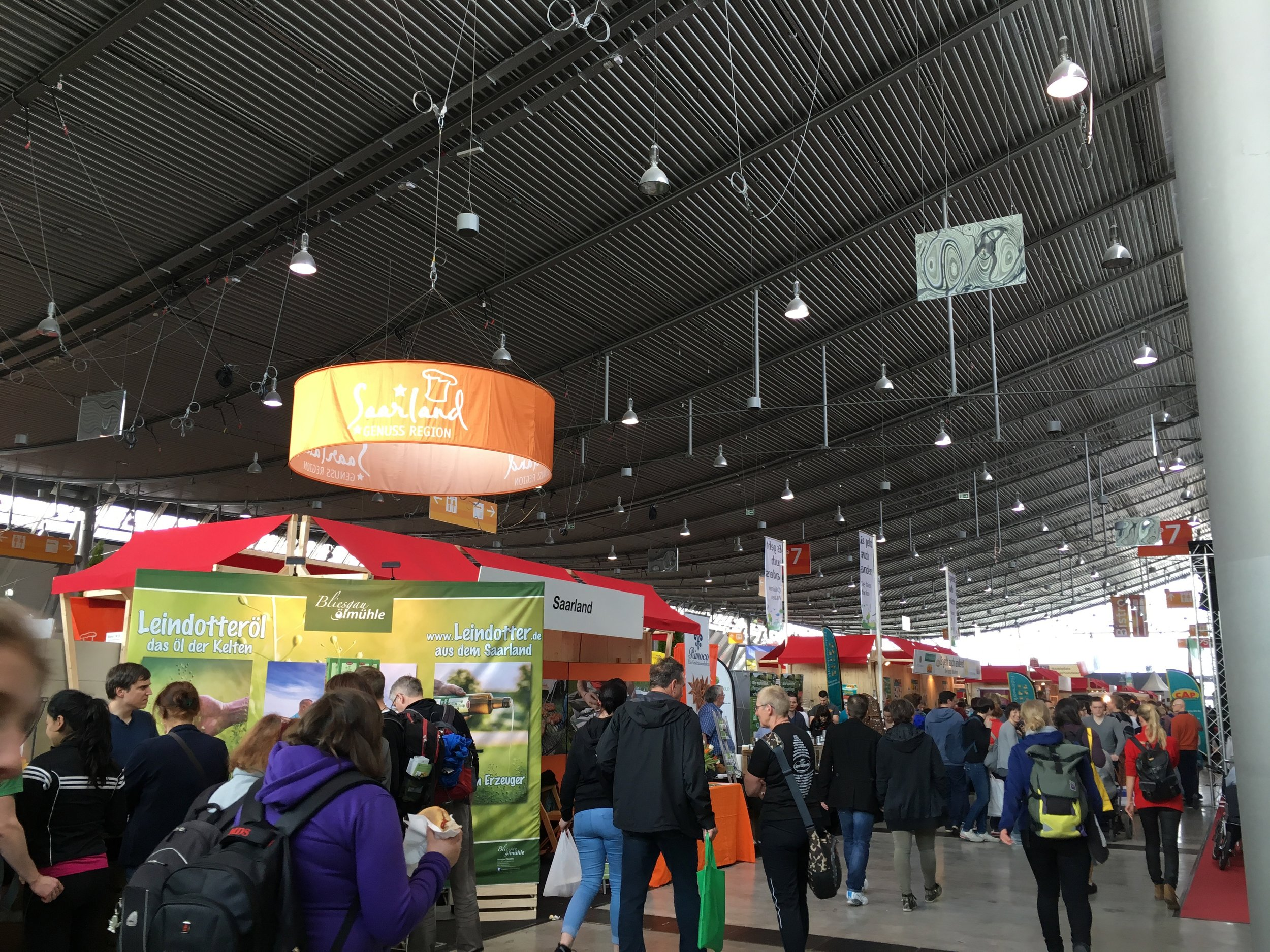 The  Messe  crammed with food vendors at this past year's  Markt des Guten Geschmacks