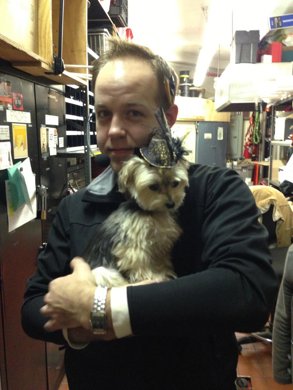 That's Zac with Stephanie J. Block's dog, Macaco!