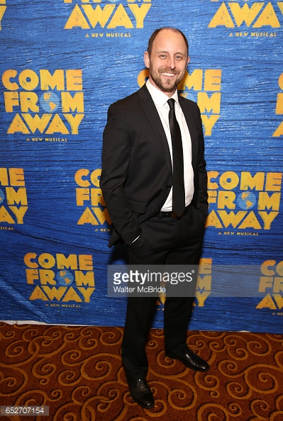 Geno Carr on opening night of  Come From Away