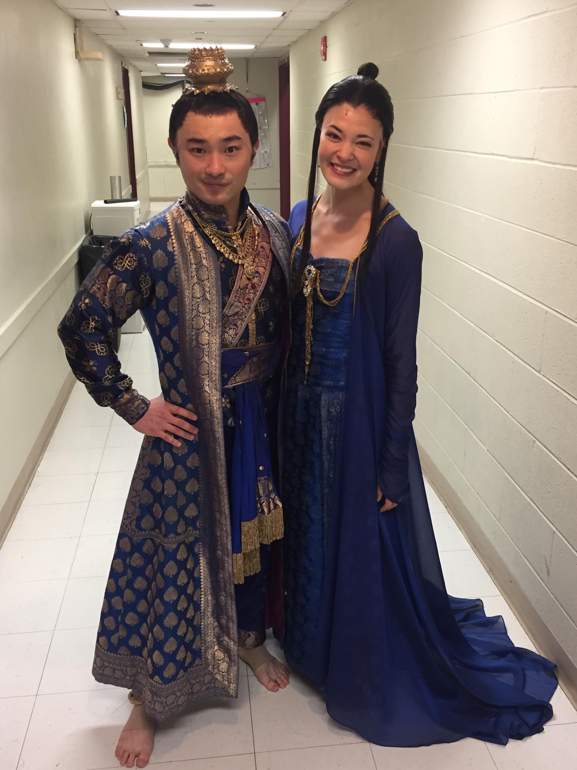 Marcus Shane as Prince Chulalongkorn with Manna Nichols as Tuptim