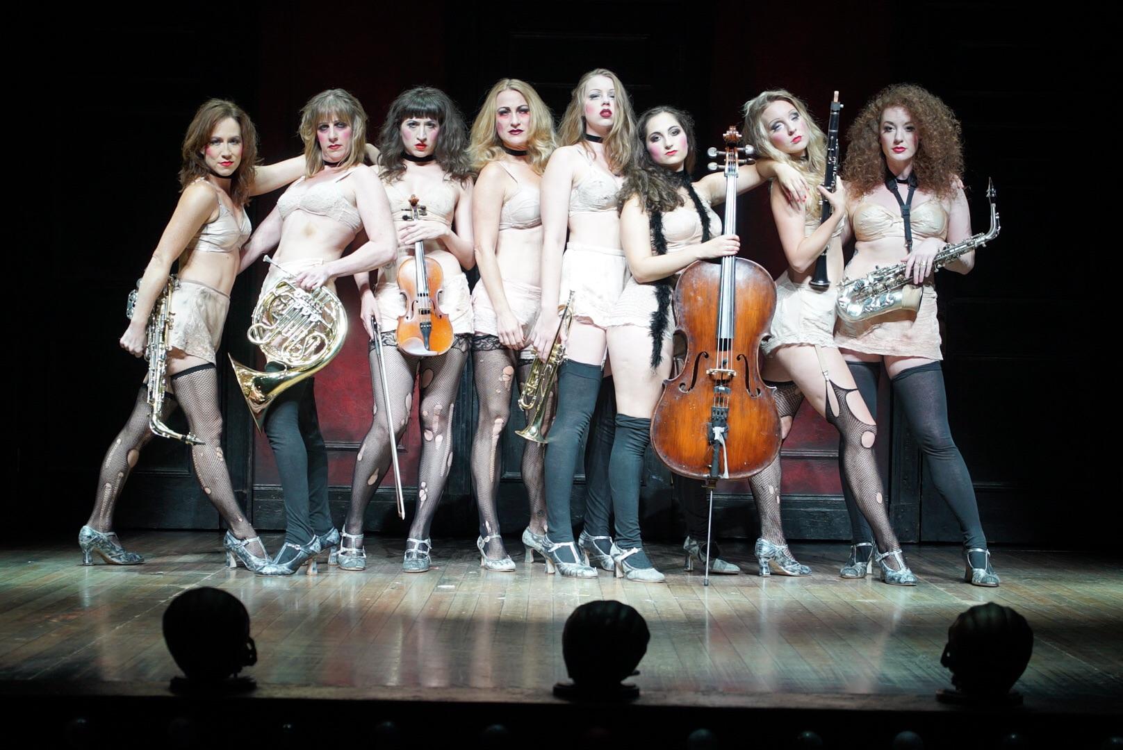 The Kit Kat Girls (l-r): Laura Sheehy, Lori Eure, Kendal Hartse, Alison Ewing, Sarah Bishop. Jenna Zito Clark, Kelsey Beckert & Chelsey Clark