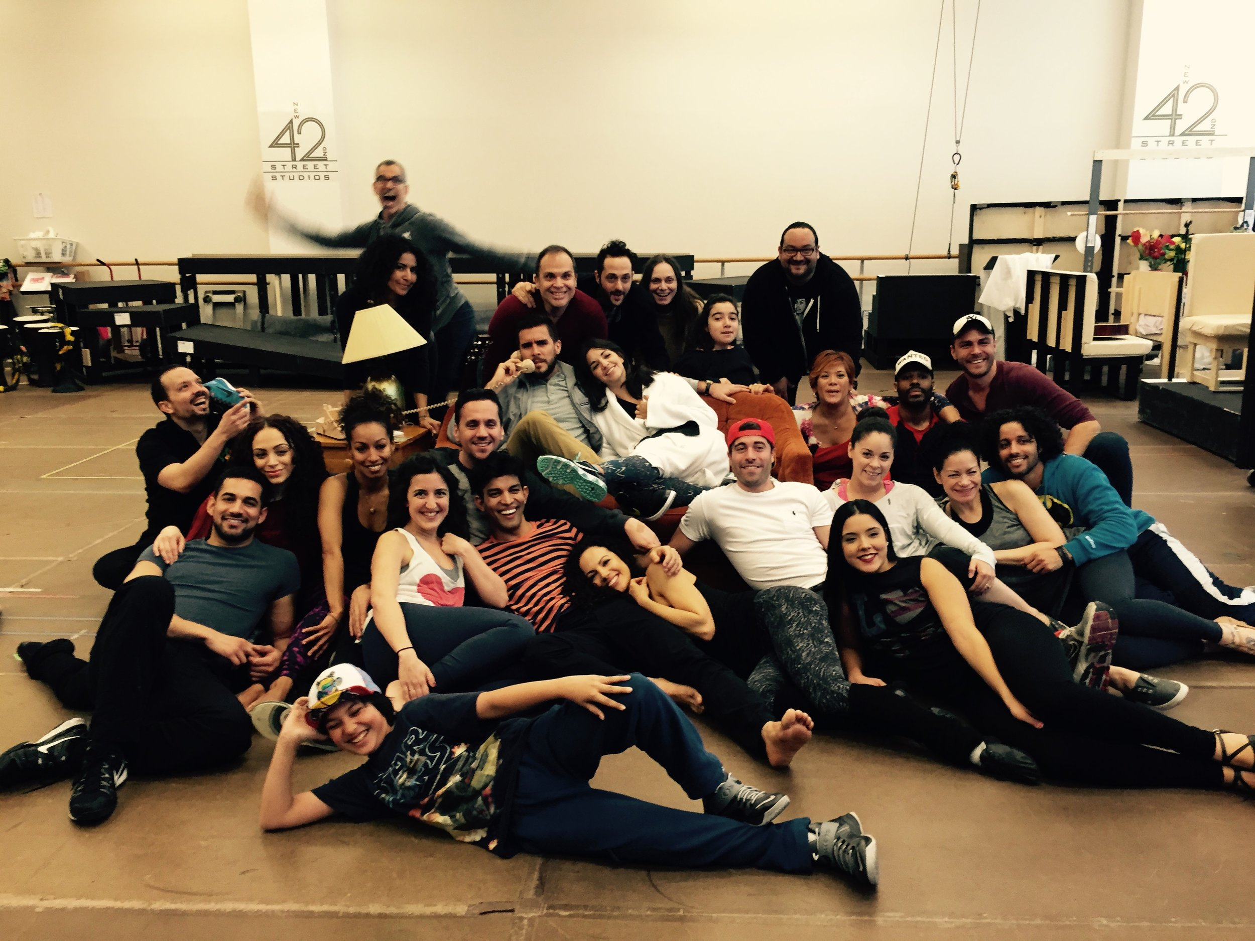 Eric Ulloa and the company of  On Your Feet!
